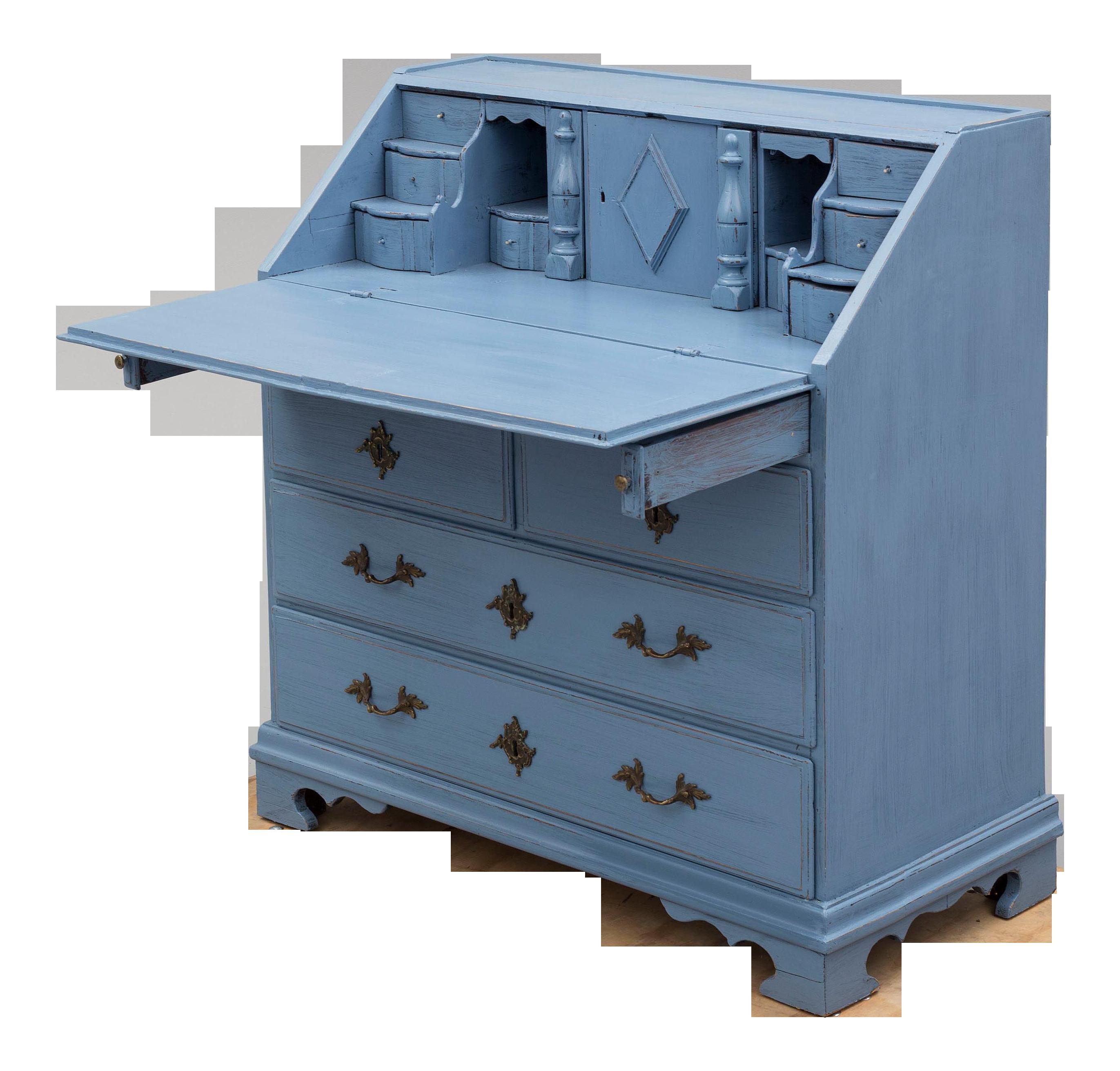 19th Century Swedish Blue Secretaire Desk Chairish