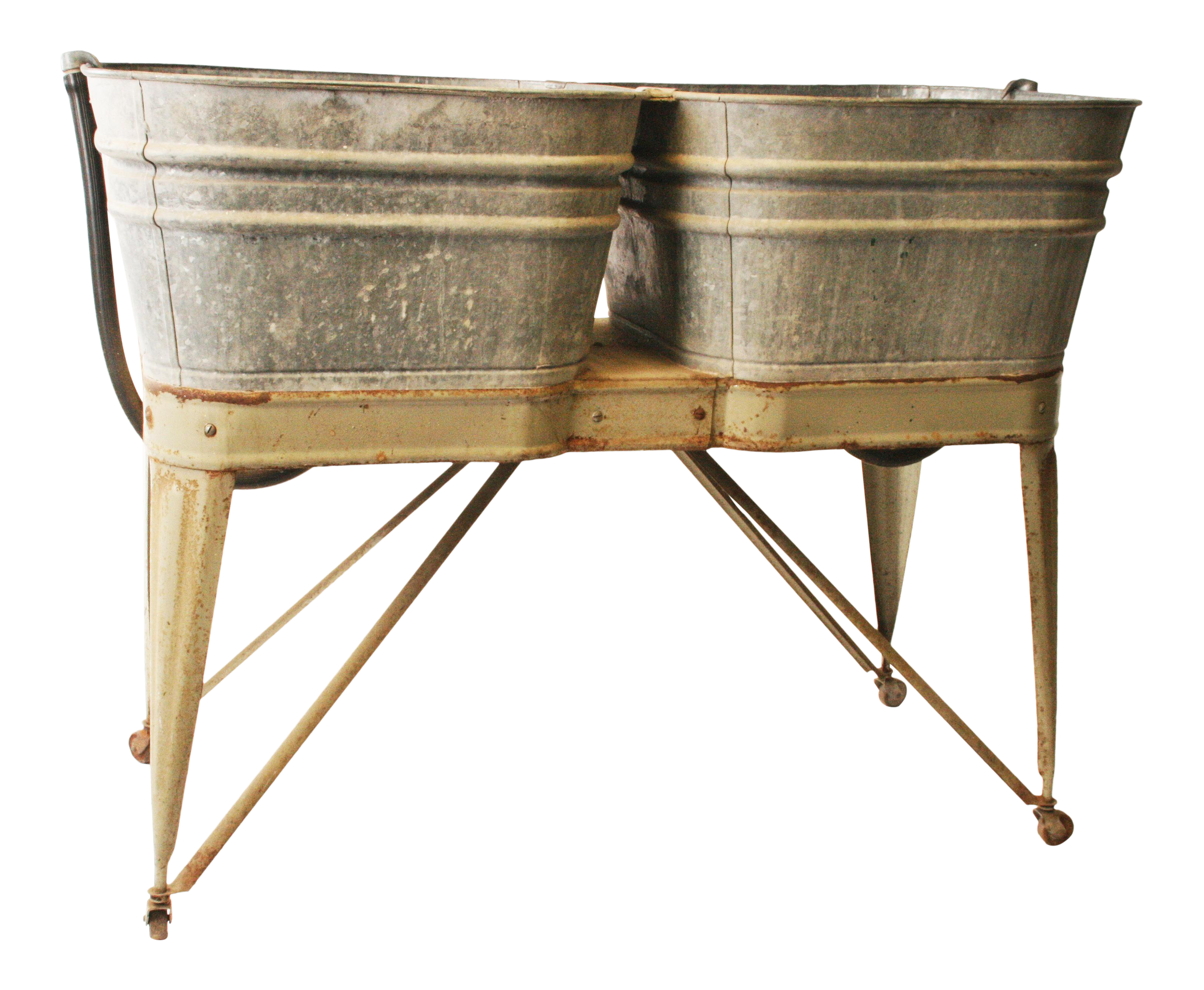 wash basin country product double with galvanized green tub vintage ideal stand chairish