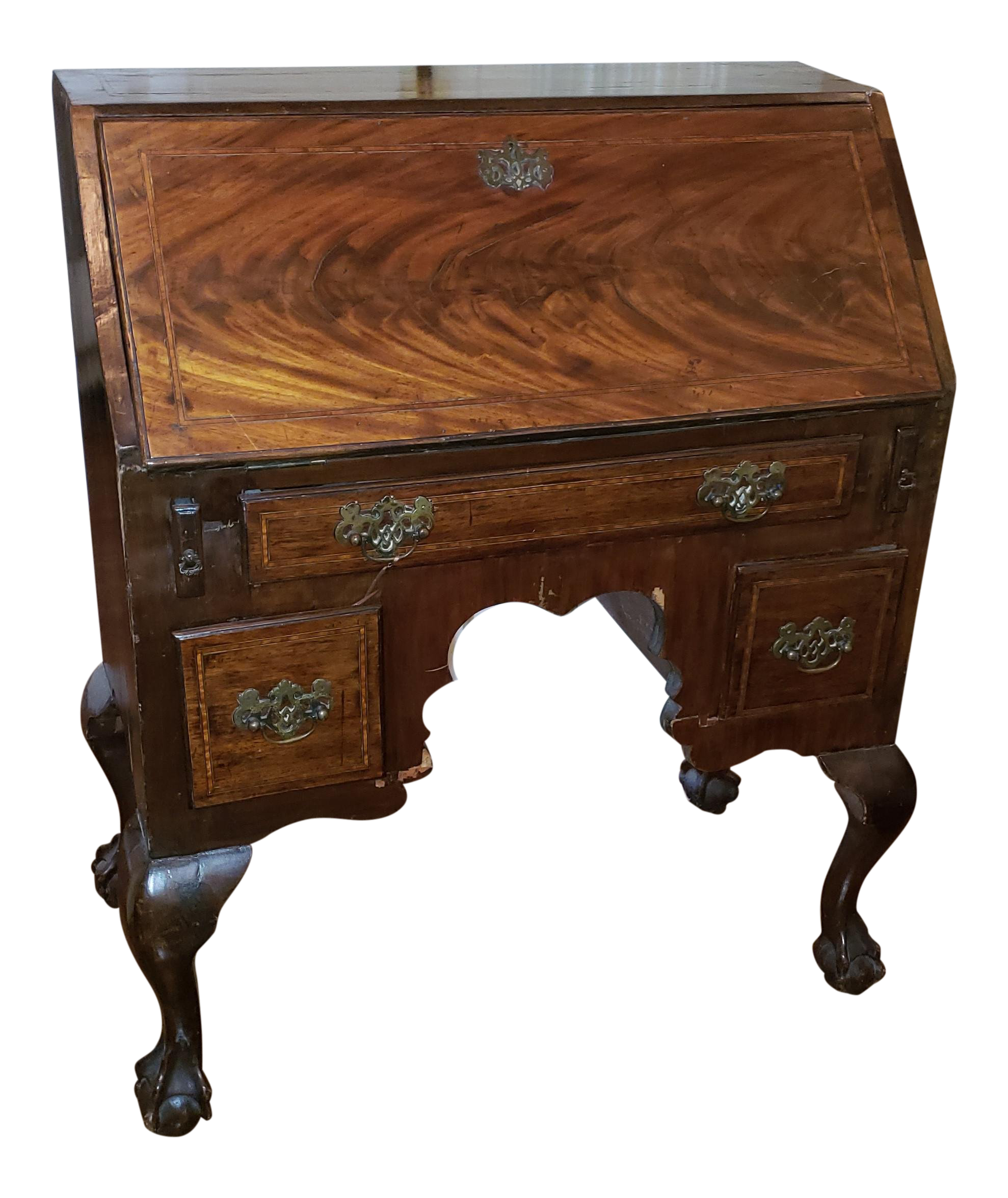 Fine Antique English Traditional Wood Secretary Desk Home Interior And Landscaping Synyenasavecom