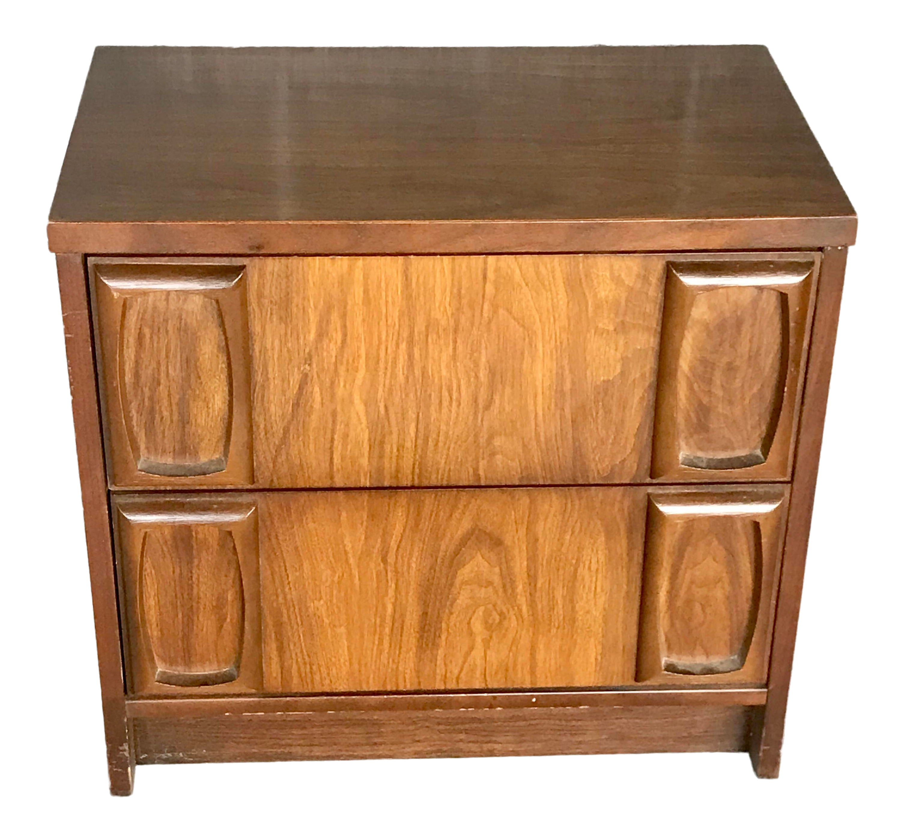 1960s Mid Century Modern Lenoir House For Broyhill Furniture Nightstand