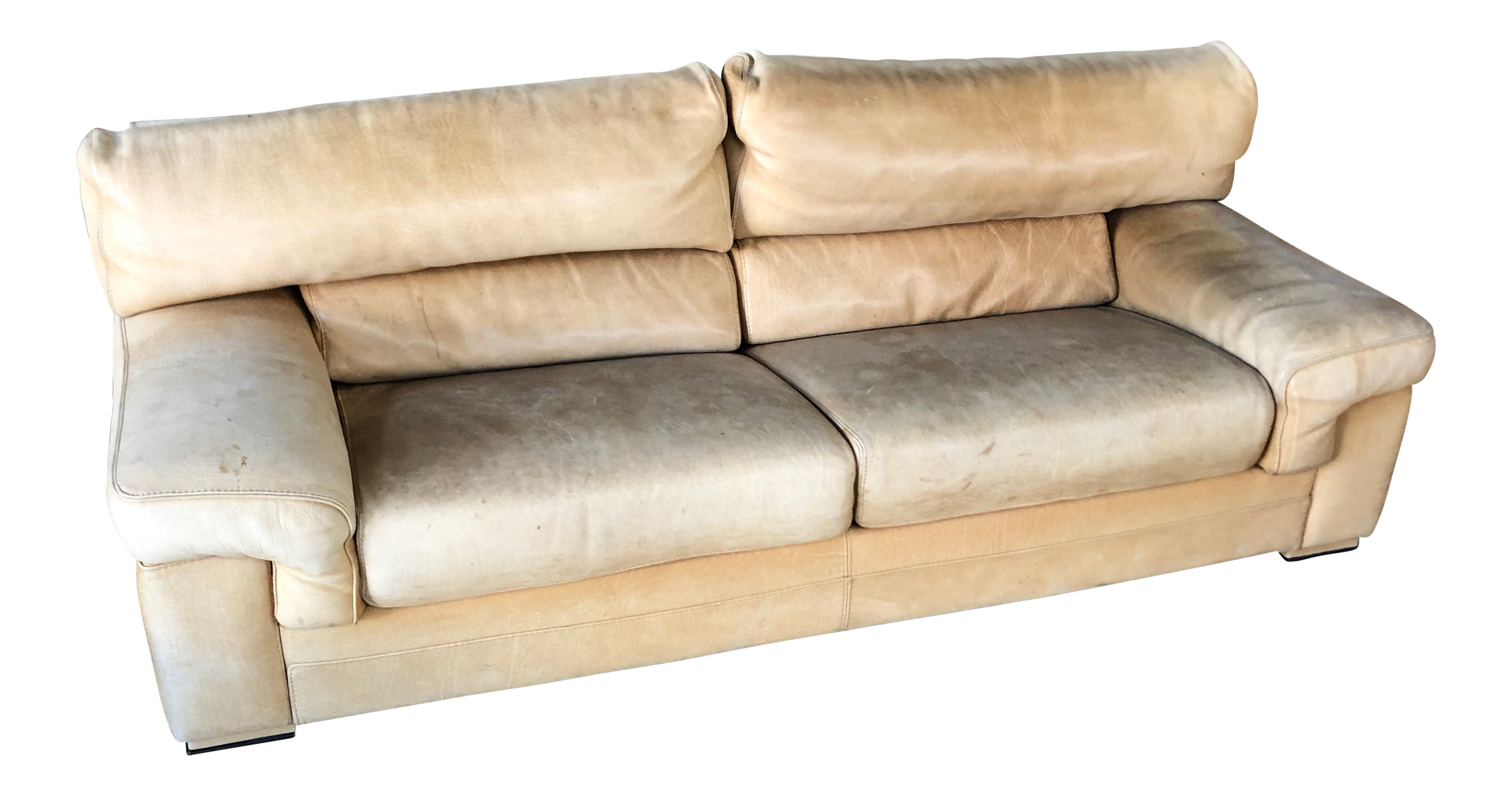 Wondrous Roche Bobois Thick Leather Nubuck Sofa Ocoug Best Dining Table And Chair Ideas Images Ocougorg
