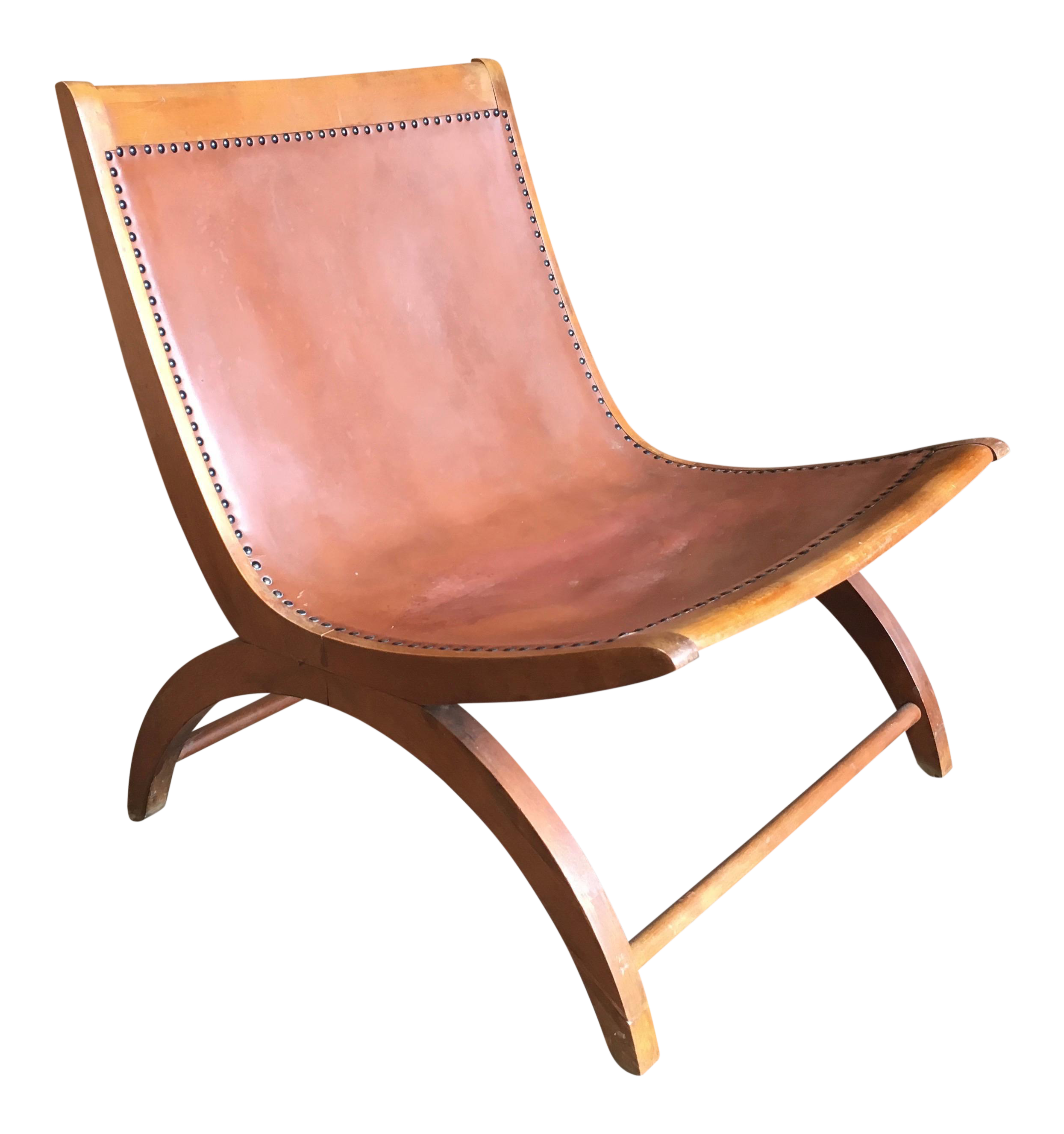 Astonishing Mid Century Modern Milo Baughman For Murray Brown Leather Lounge Chair Pabps2019 Chair Design Images Pabps2019Com