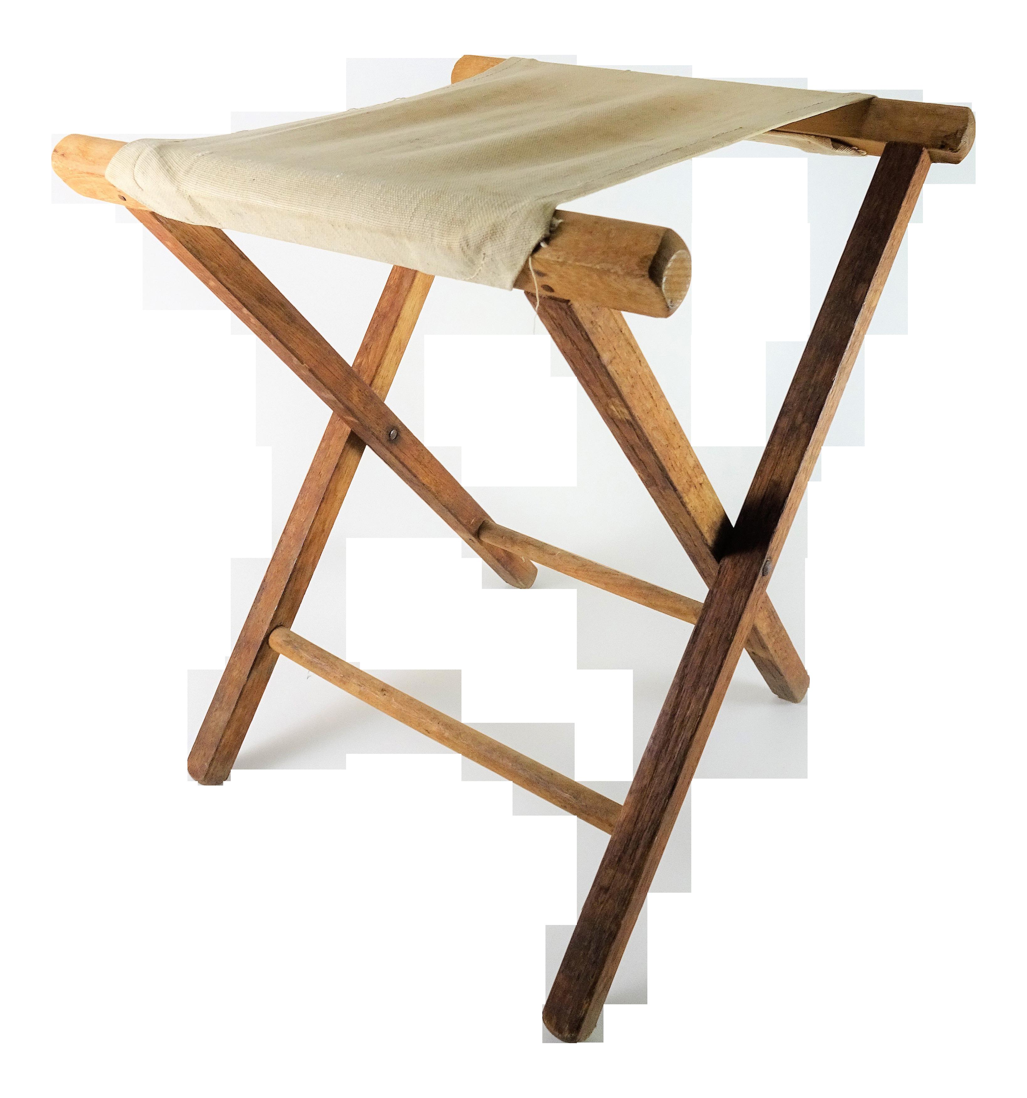 Fantastic Vintage Rustic Folding Wood Camp Stool Bralicious Painted Fabric Chair Ideas Braliciousco
