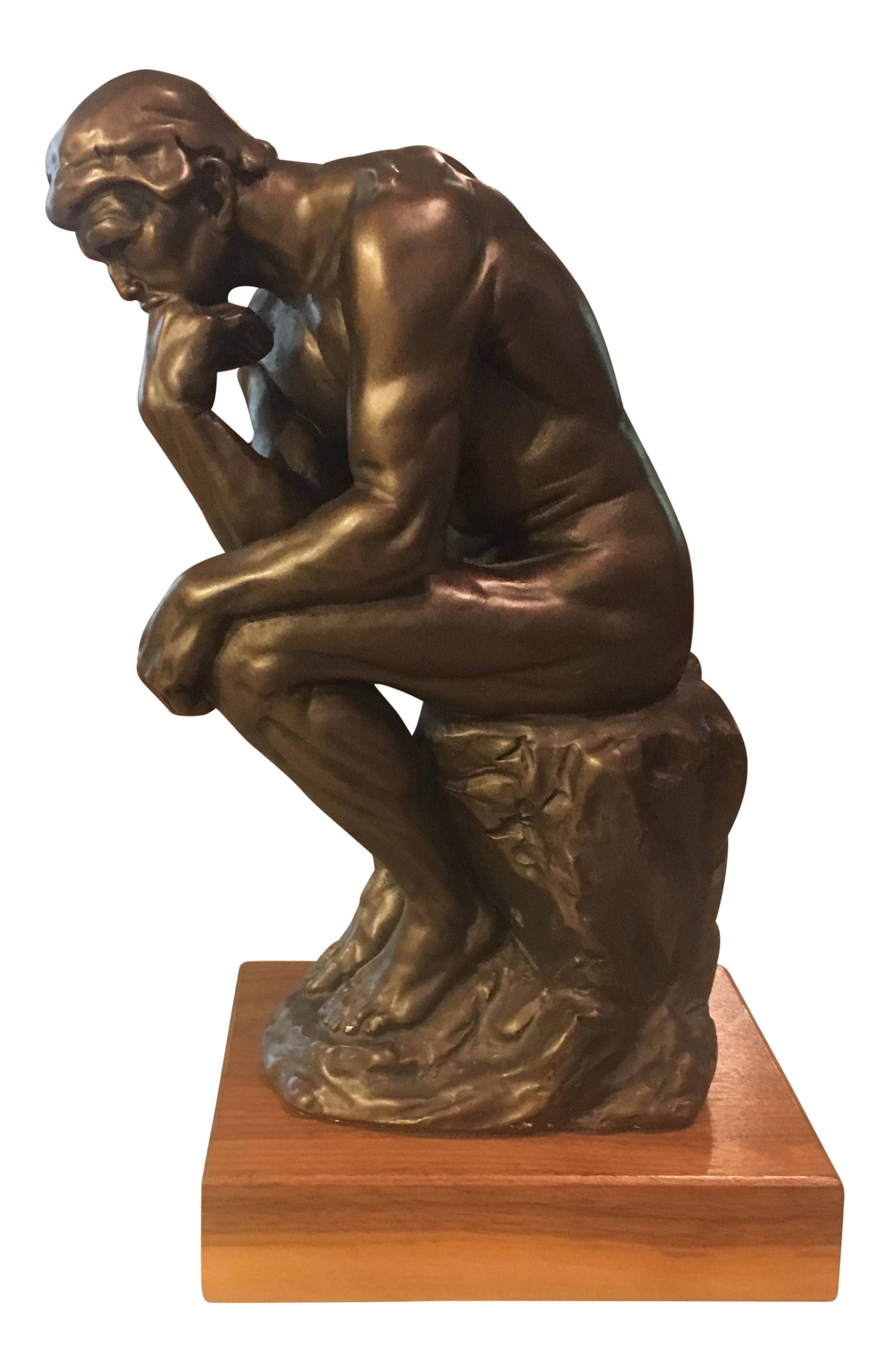Austin Productions Inc. Rodin Thinker Bronze Statue | Chairish