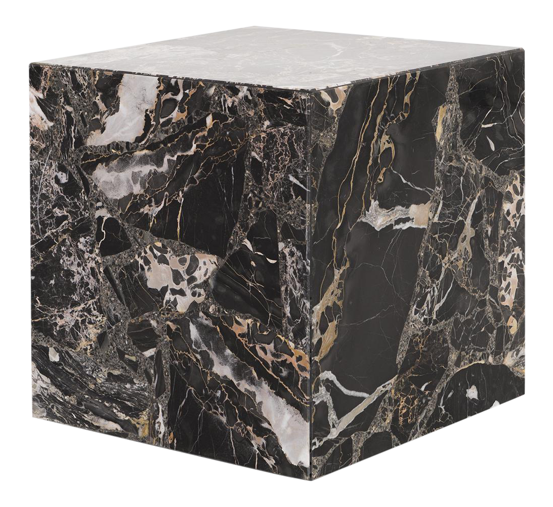 Marble Cube Side Table Chairish - Marble cube coffee table
