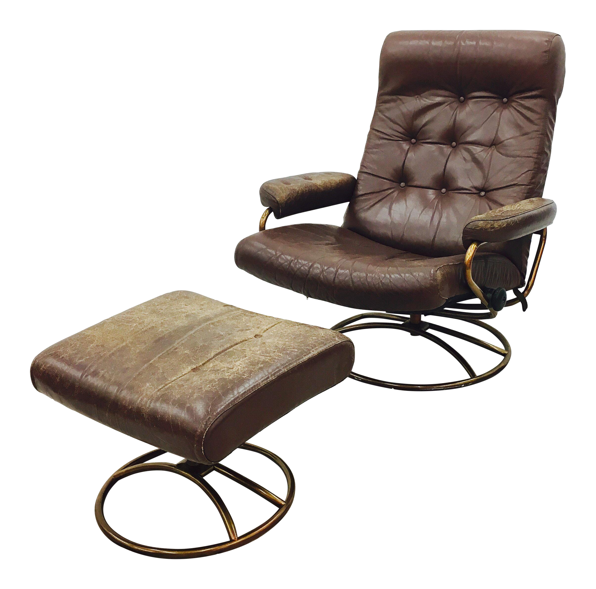 Vintage Mid Century Modern Ekornes Chair U0026 Ottoman