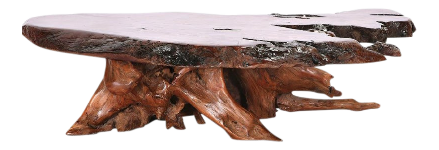 Wondrous Live Edge Redwood Coffee Table Artisan Burlwood Berkeley California Beutiful Home Inspiration Cosmmahrainfo
