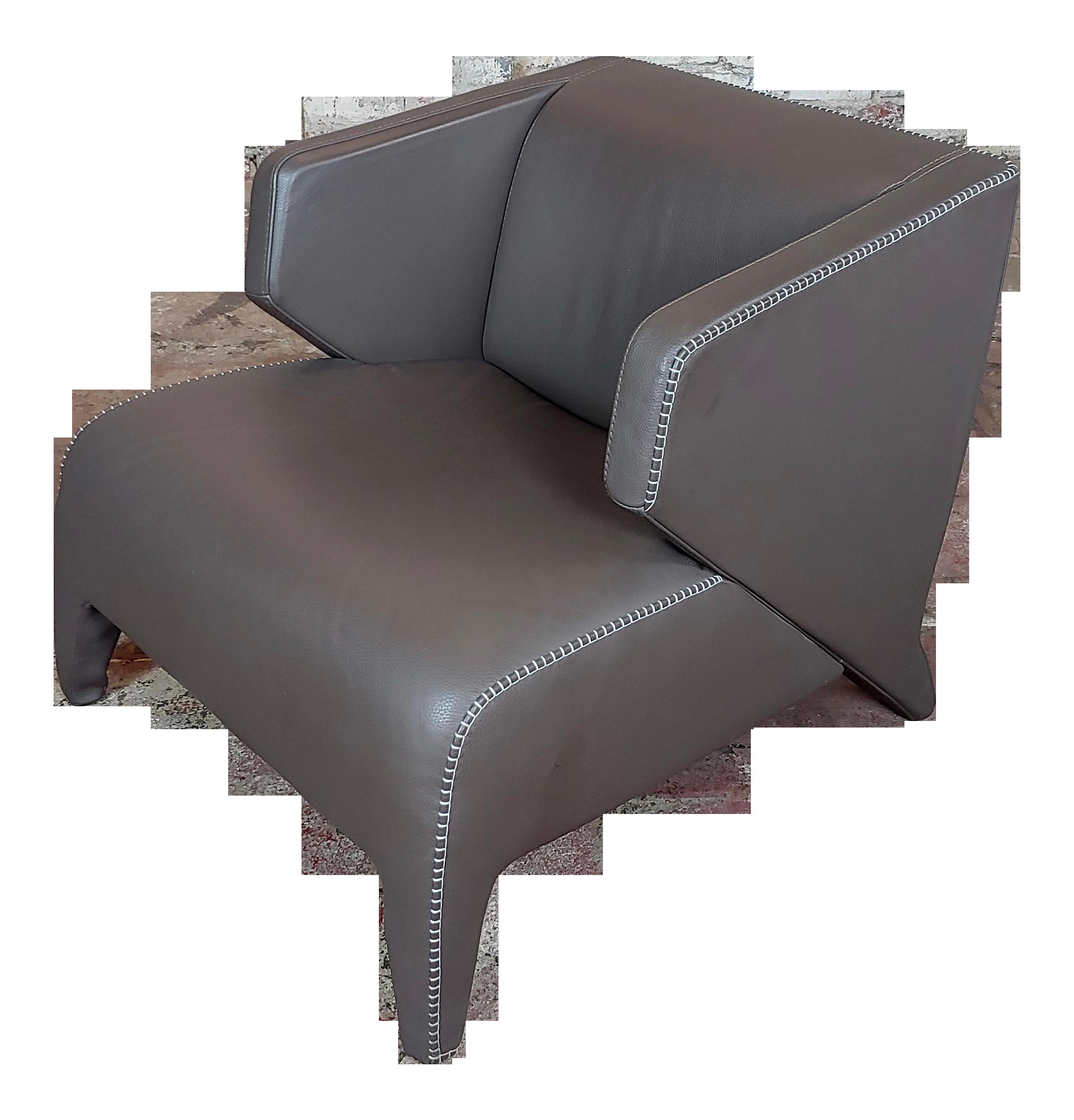 Roche Bobois Modern Leather Club Chair