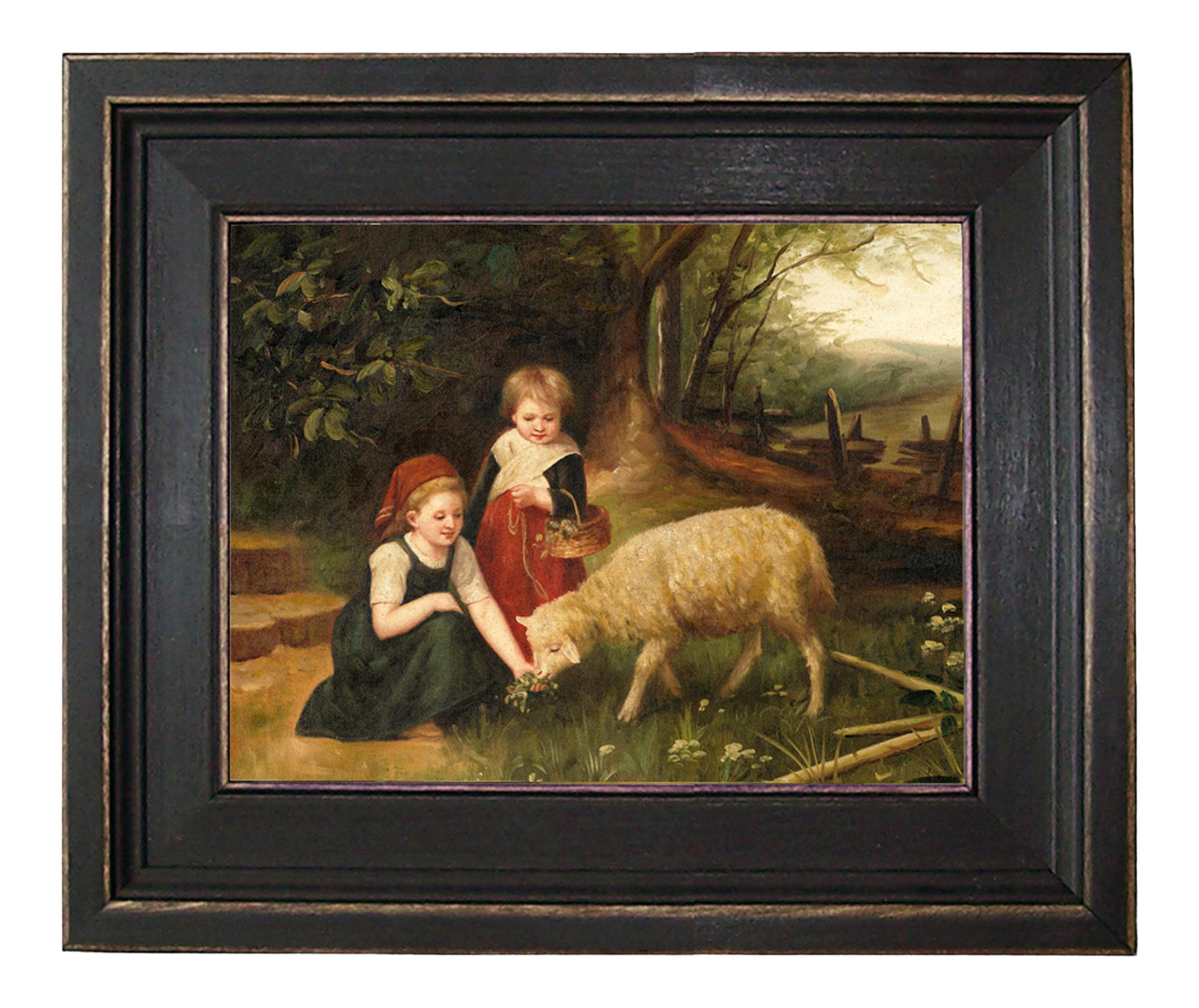 My Pet Lamb Framed Oil Painting Reproduction Print On Canvas Chairish