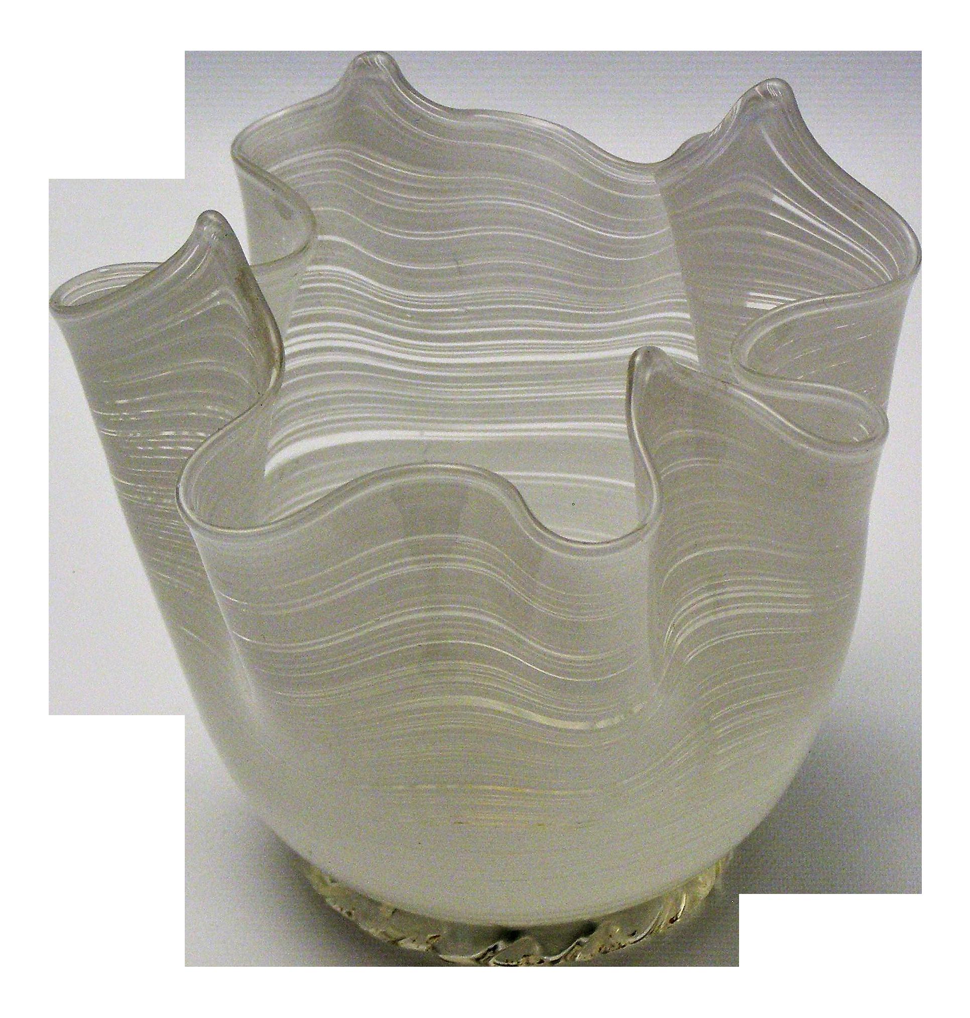Vintage Aureliano Toso Murano Venetian Handkerchief Glass
