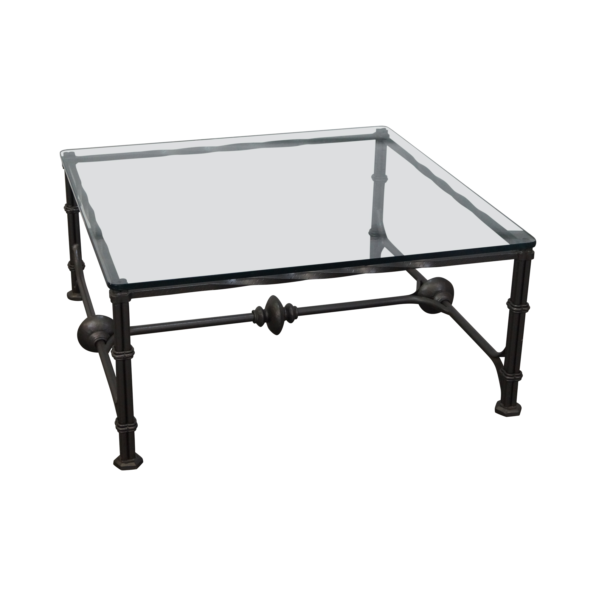 Wrought Iron Gothic Influenced Coffee Table