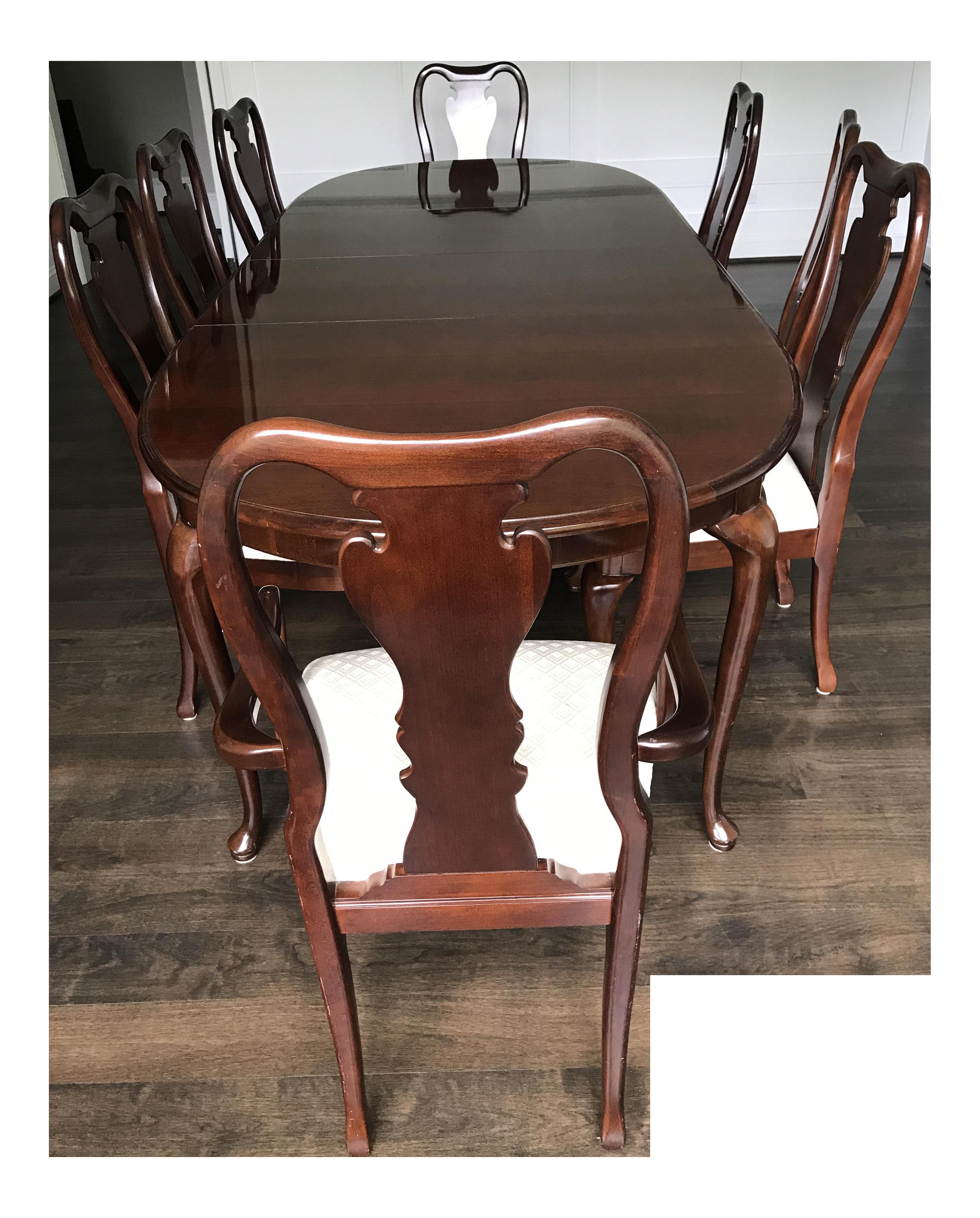 Thomasville Collector's Cherry Dining Set | Chairish