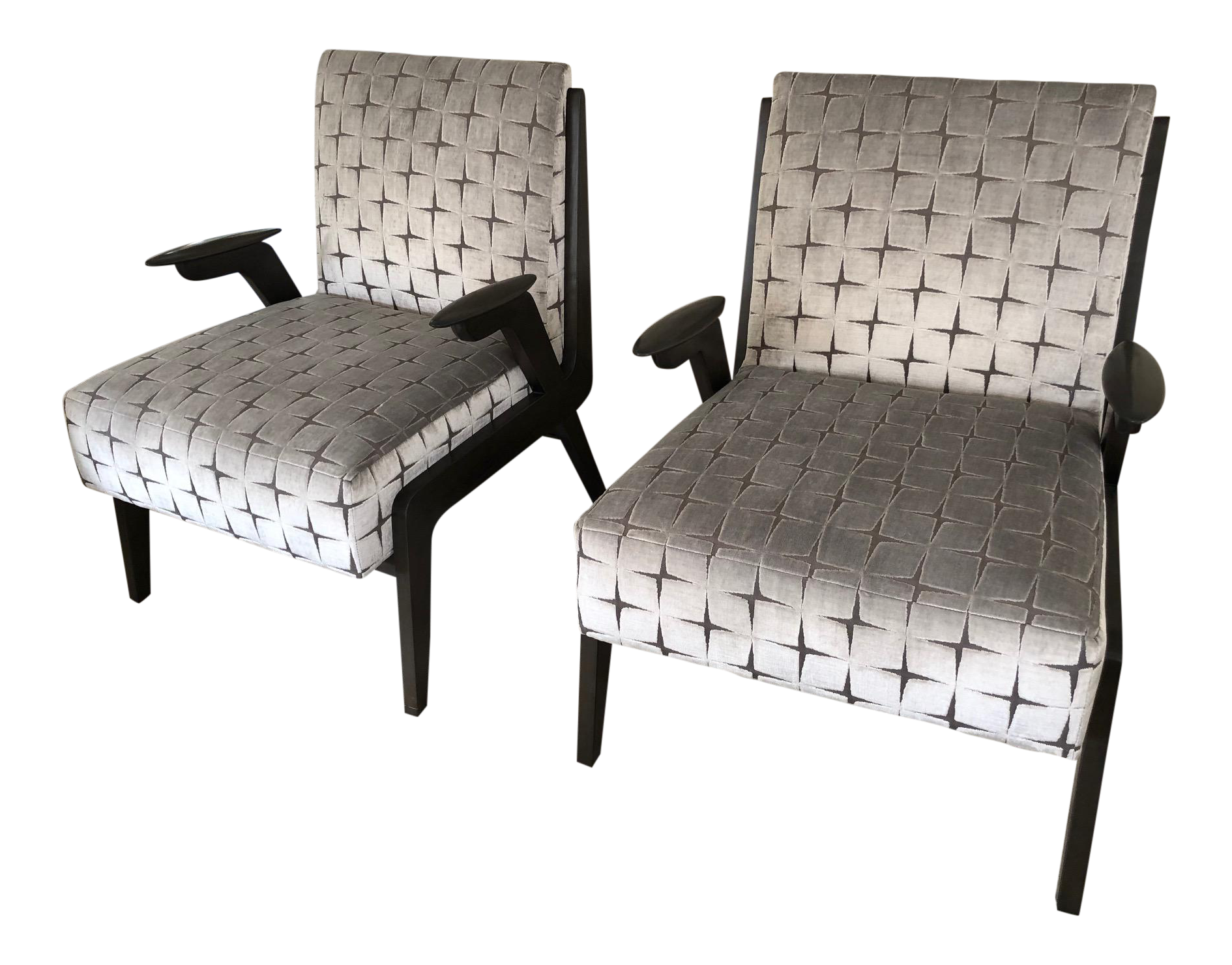 . Mid Century Modern Occasional Chairs  A Pair