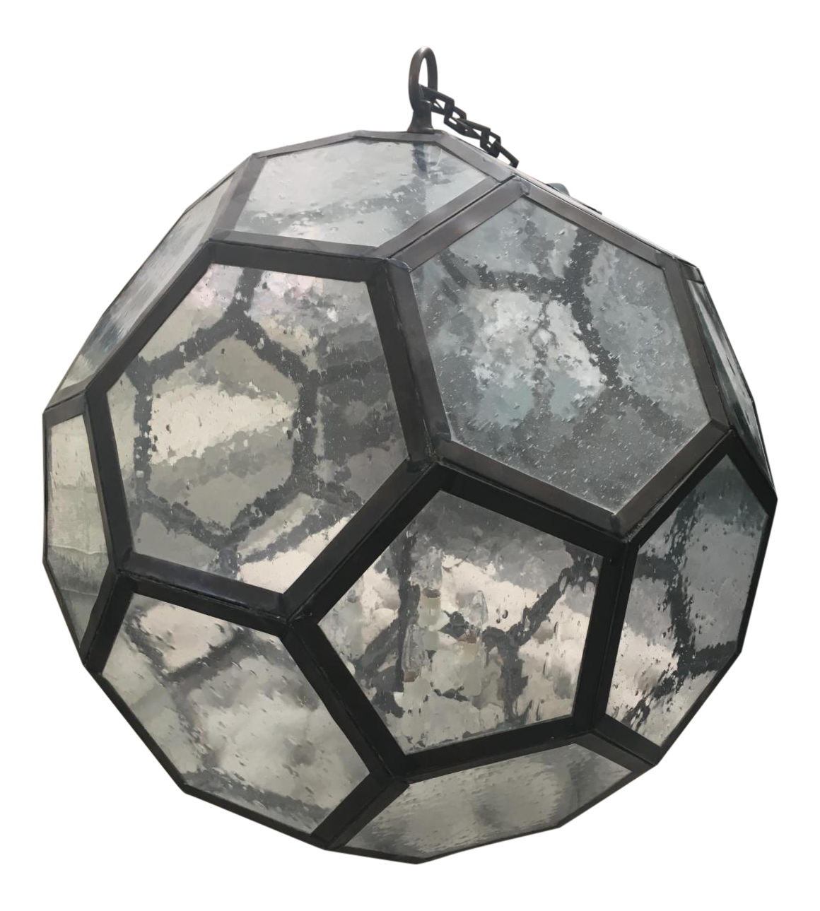 Kerry joyce hexagonal hanging globe light fixture chairish arubaitofo Images