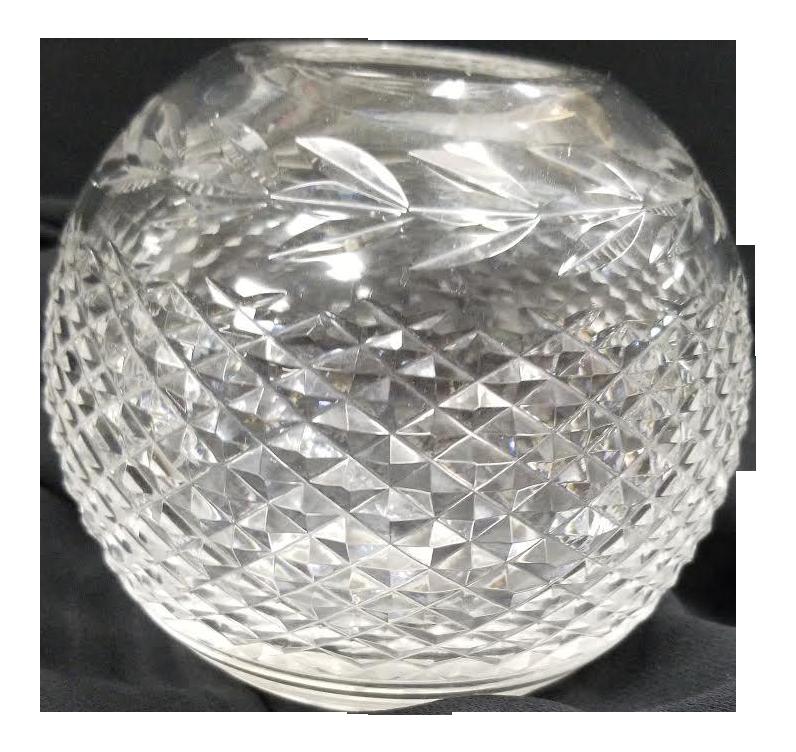 20th Century Waterford Crystal Spherical Vase Chairish