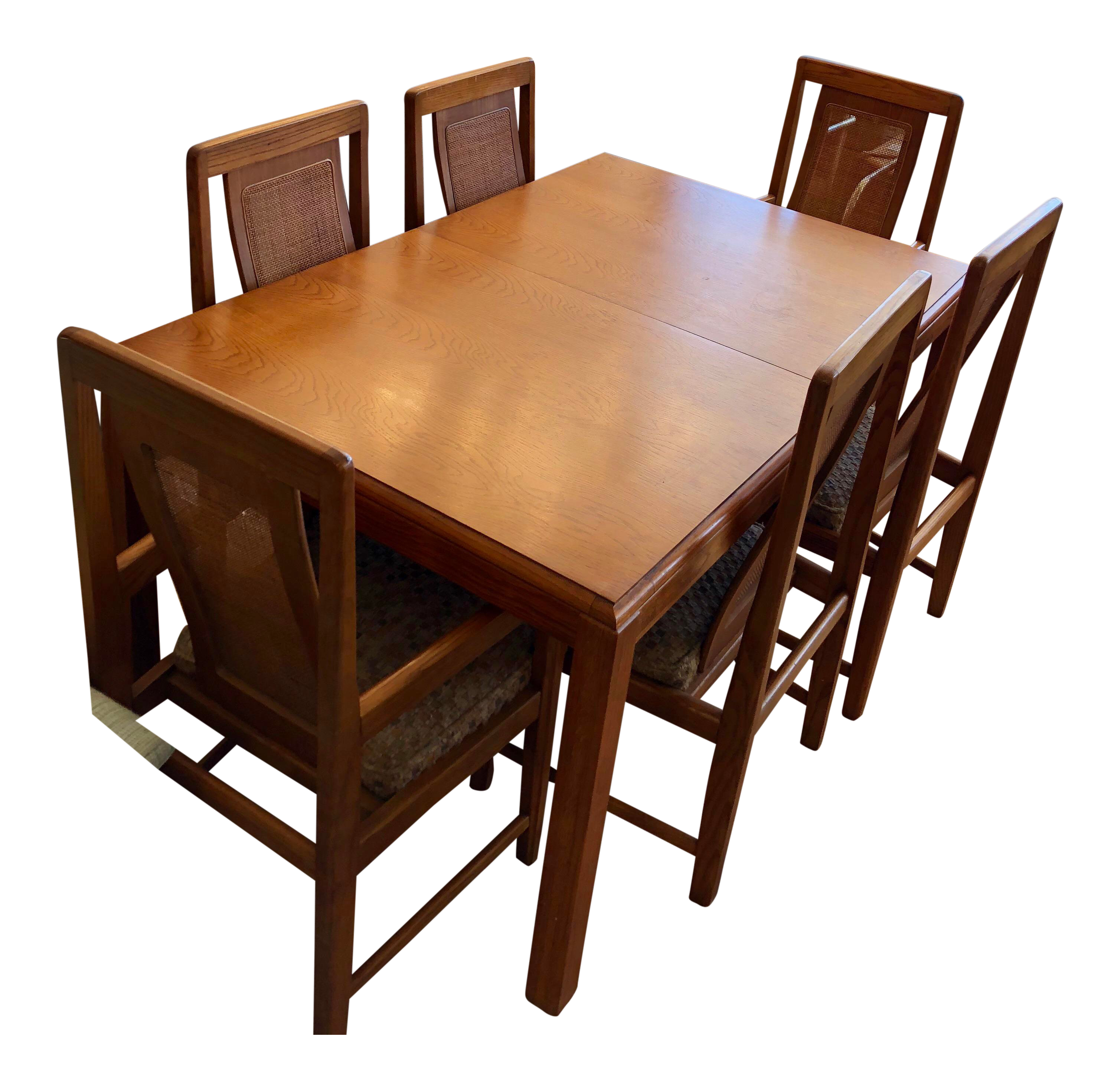 Pleasing 1970S Sears Roebuck Oak Dining Table With 6 Chairs Squirreltailoven Fun Painted Chair Ideas Images Squirreltailovenorg