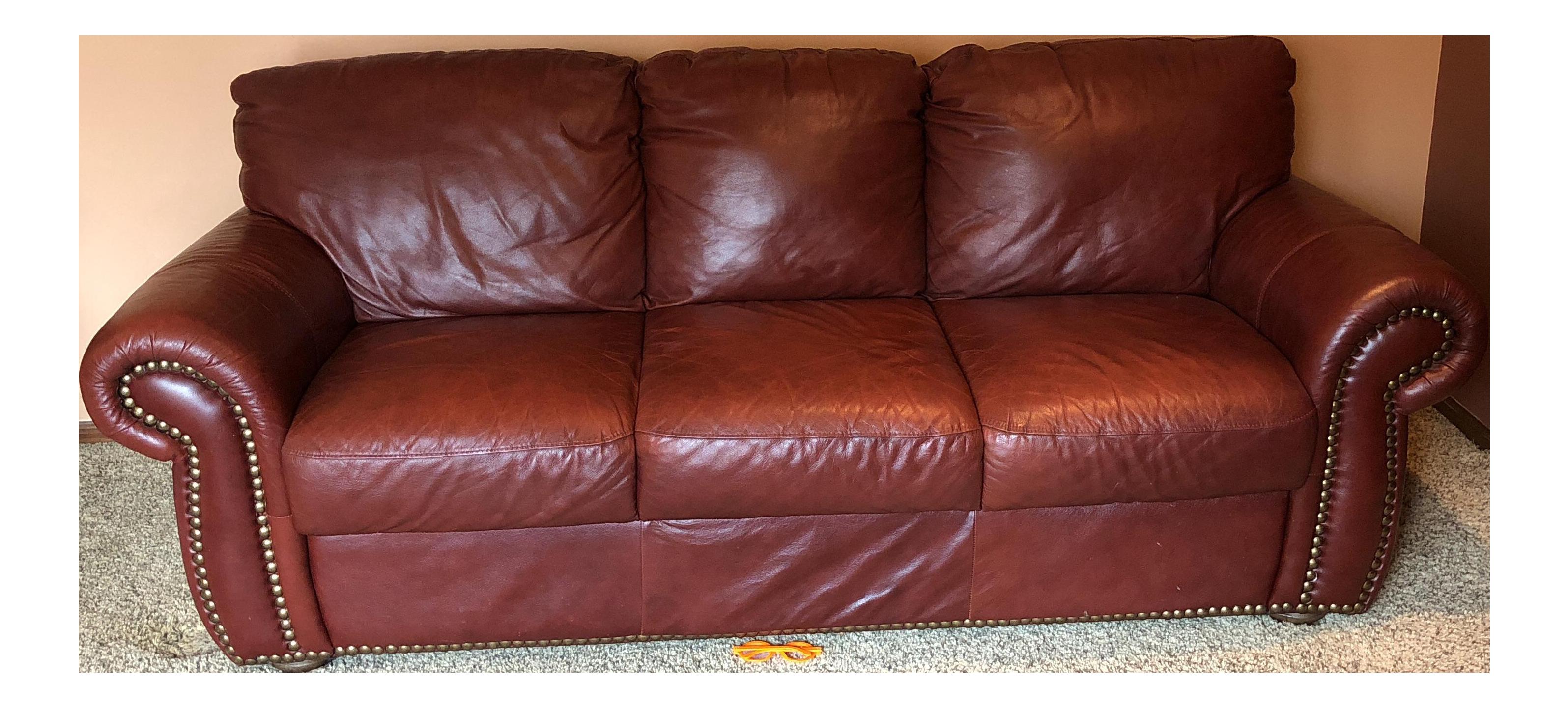 Chateaux D Ax Divani.Chateau D Ax Divani Italian Red Leather Sofa Chairish
