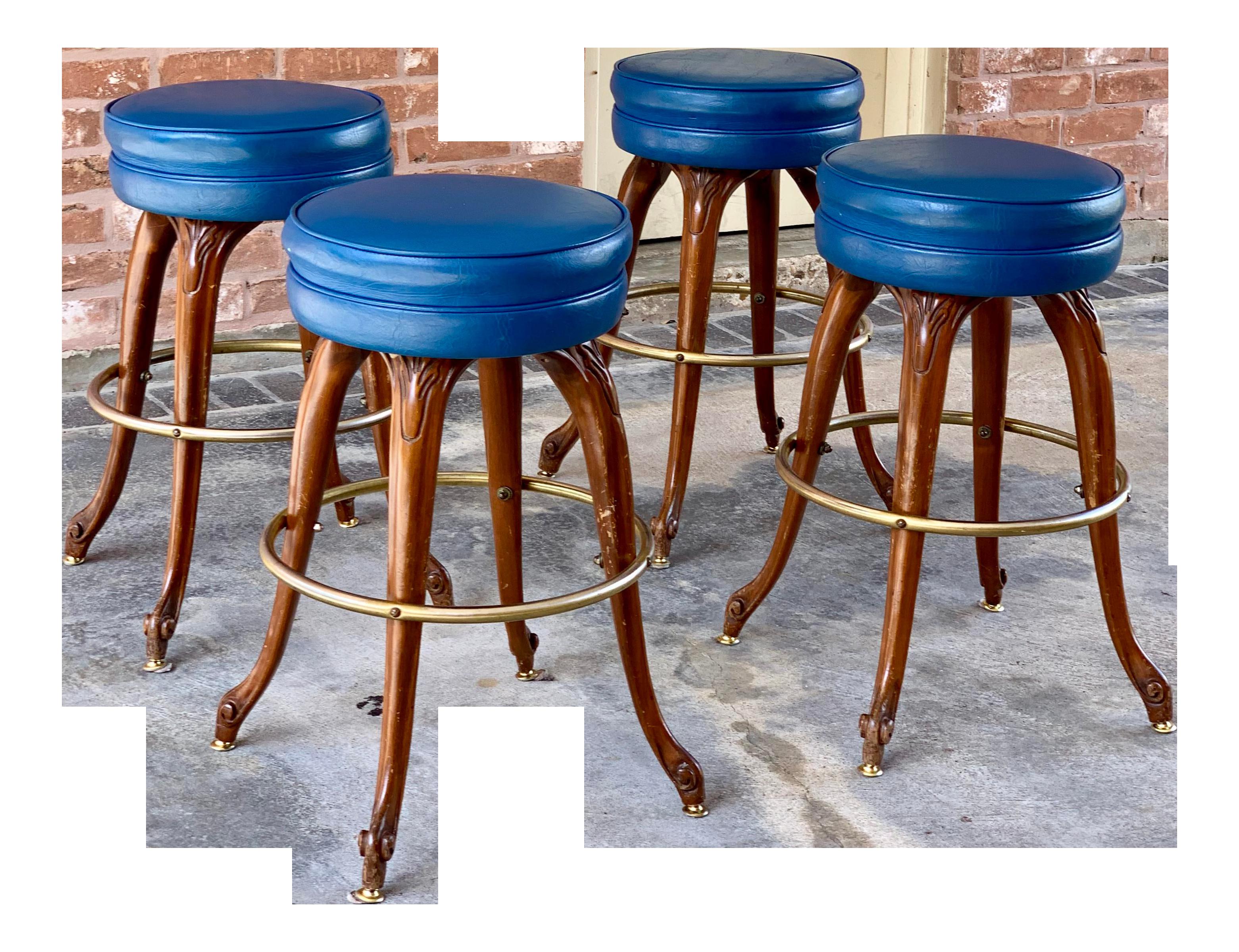 Fine 1980S Vintage Vanguard Swivel Stools Set Of 4 Alphanode Cool Chair Designs And Ideas Alphanodeonline