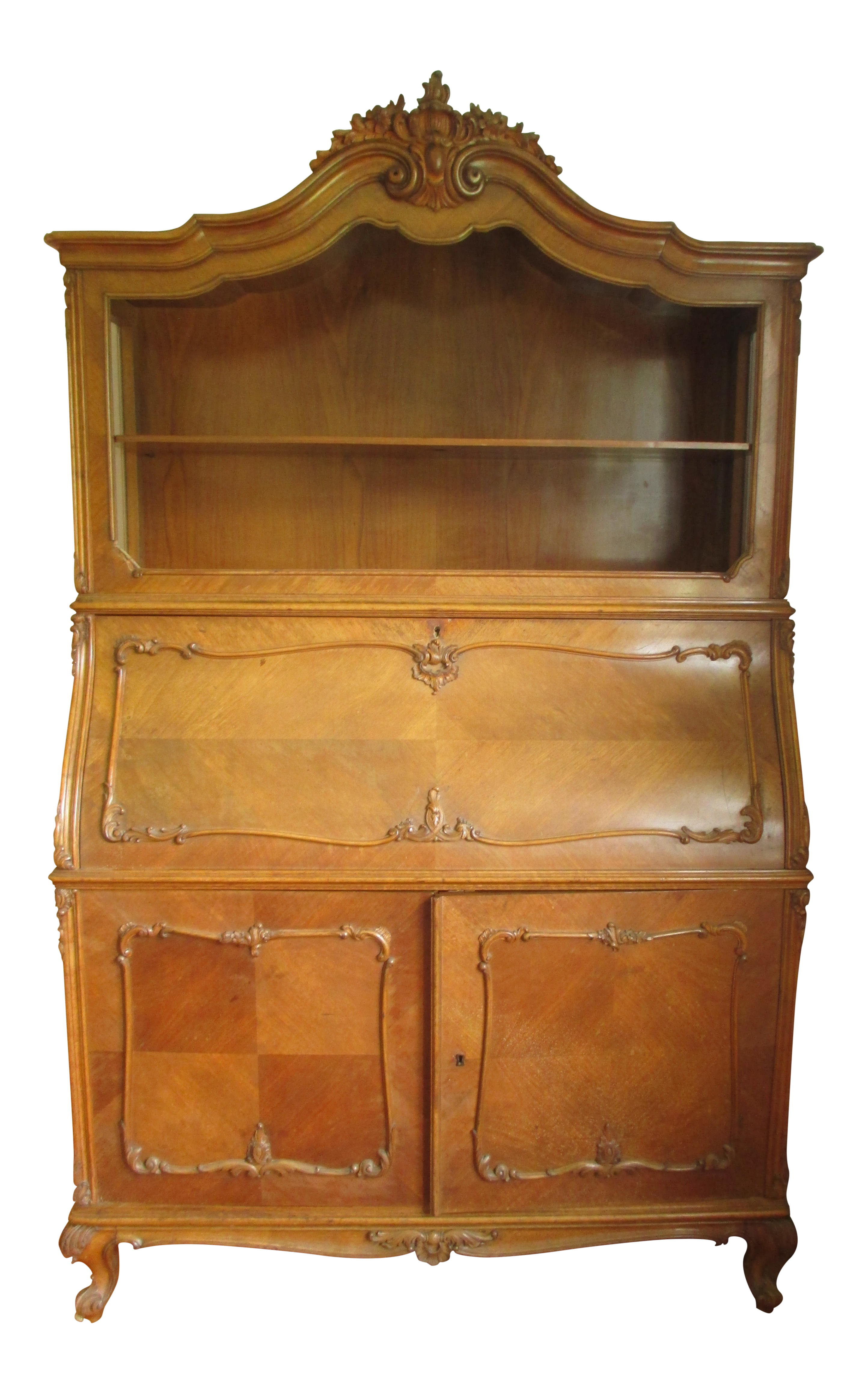 Enjoyable 1920S Hungarian Antique Wood China Display Cabinet With Locking Doors And Bar Download Free Architecture Designs Embacsunscenecom