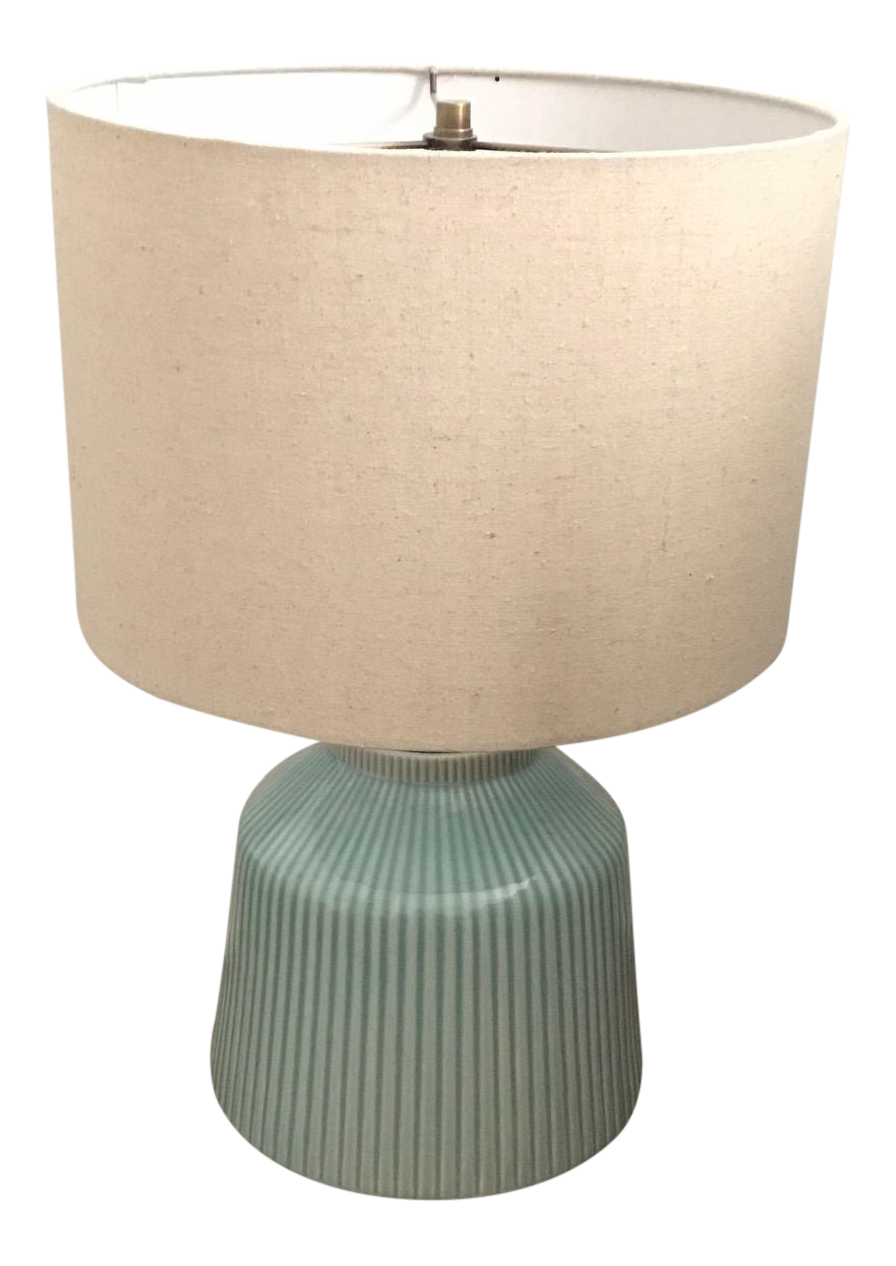 Well known West Elm Roar & Rabbit Ripple Turquoise Ceramic Table Lamp | Chairish XW53