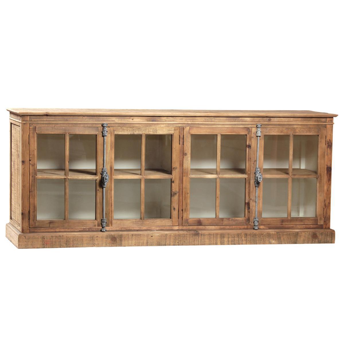 Reclaimed Pine Glass Door Sideboard Chairish