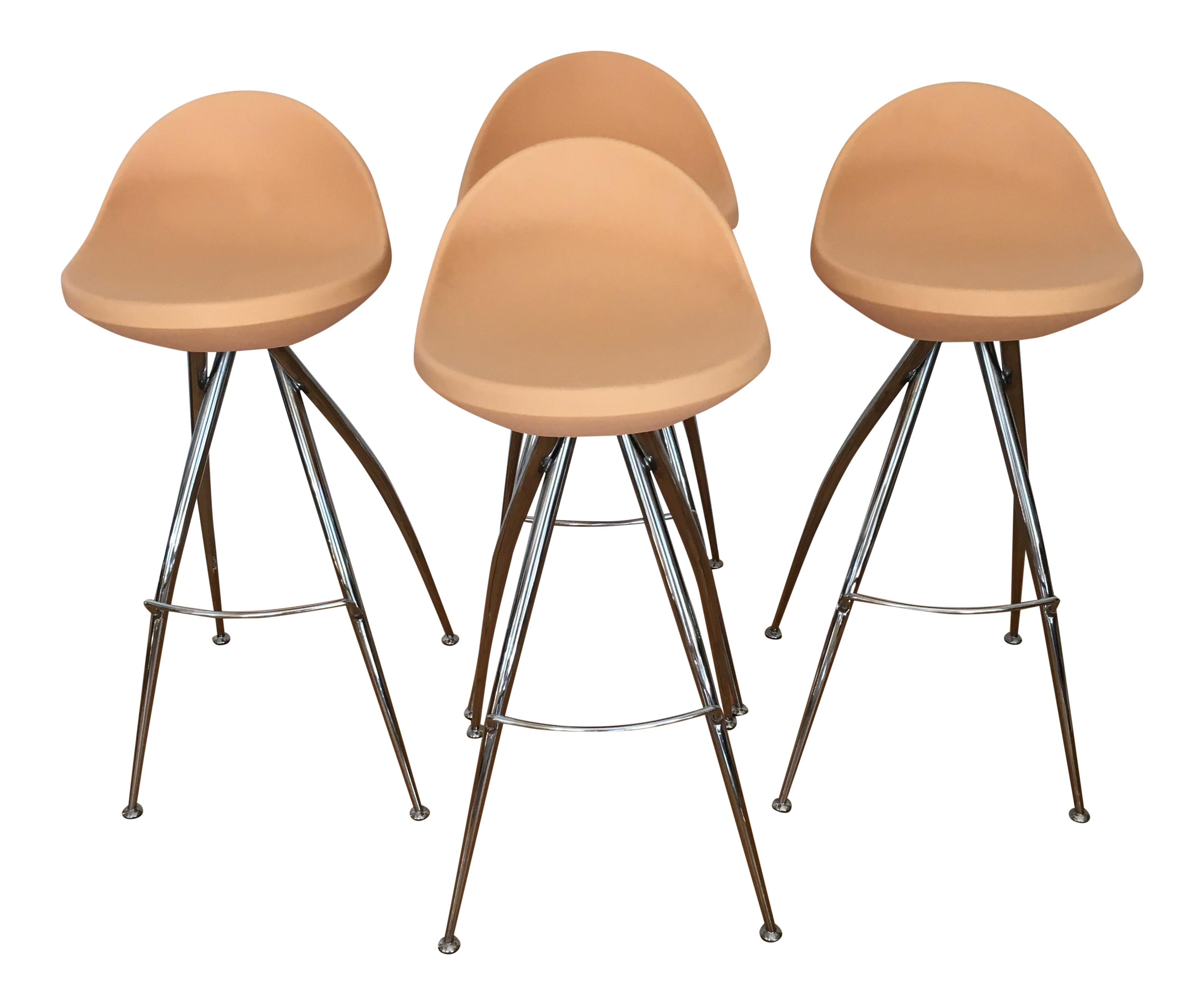 Admirable Roberto Foschia Italian Midj Bar Stools Set Of 4 Creativecarmelina Interior Chair Design Creativecarmelinacom