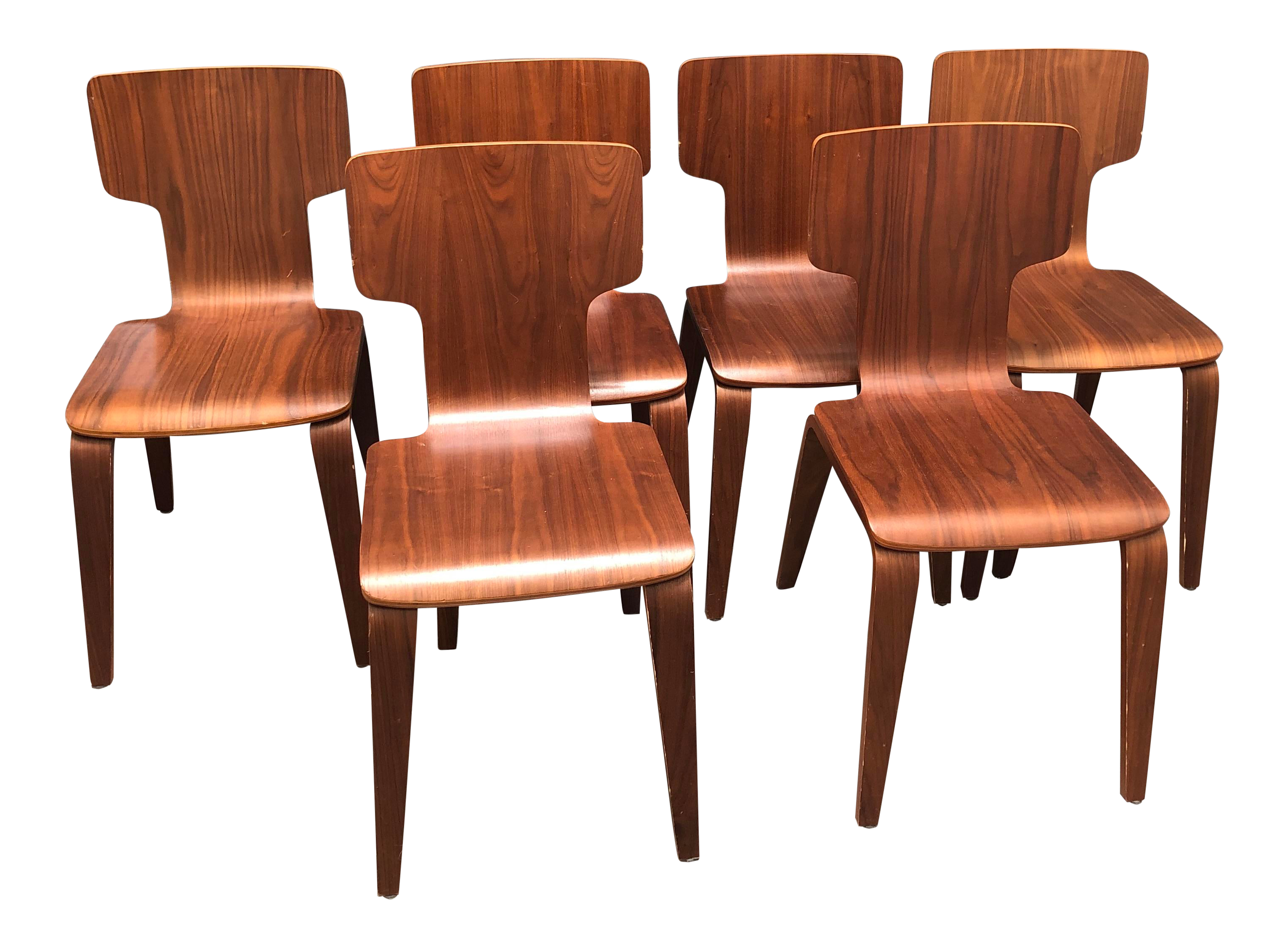 Set of 6 Mid-Century Modern Dining Chairs From West Elm