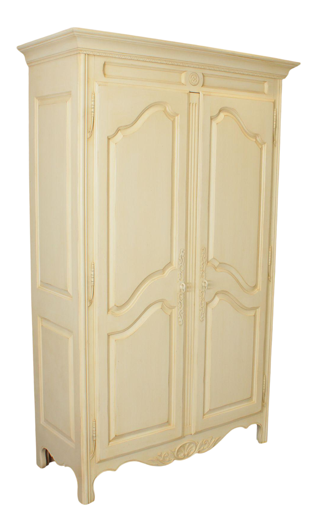 Ethan Allen Country French Cream Painted Armoire Chairish