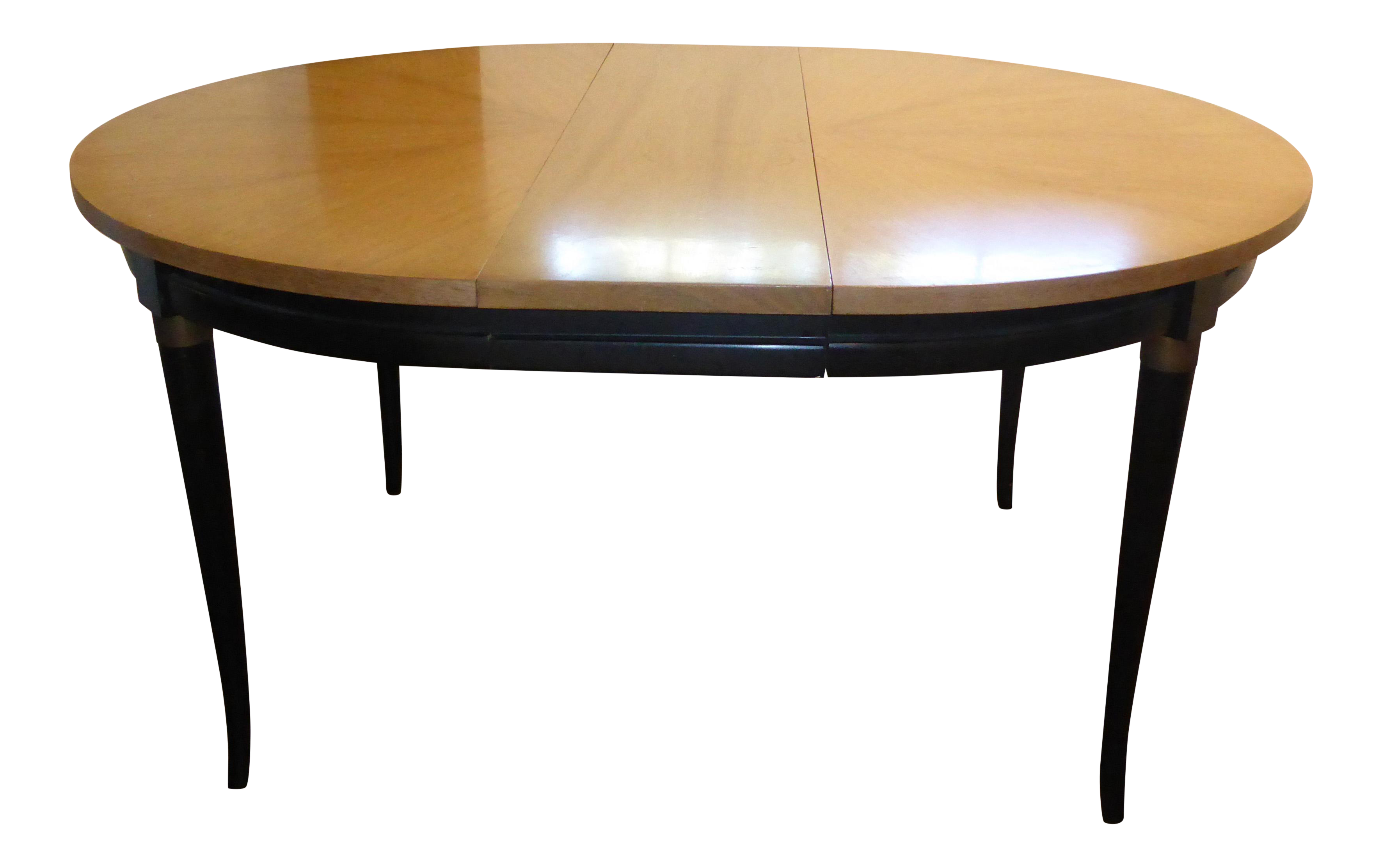 Vintage Mid Century Modern Dining Table With 2 Leaves By American Of Martinsville Chairish