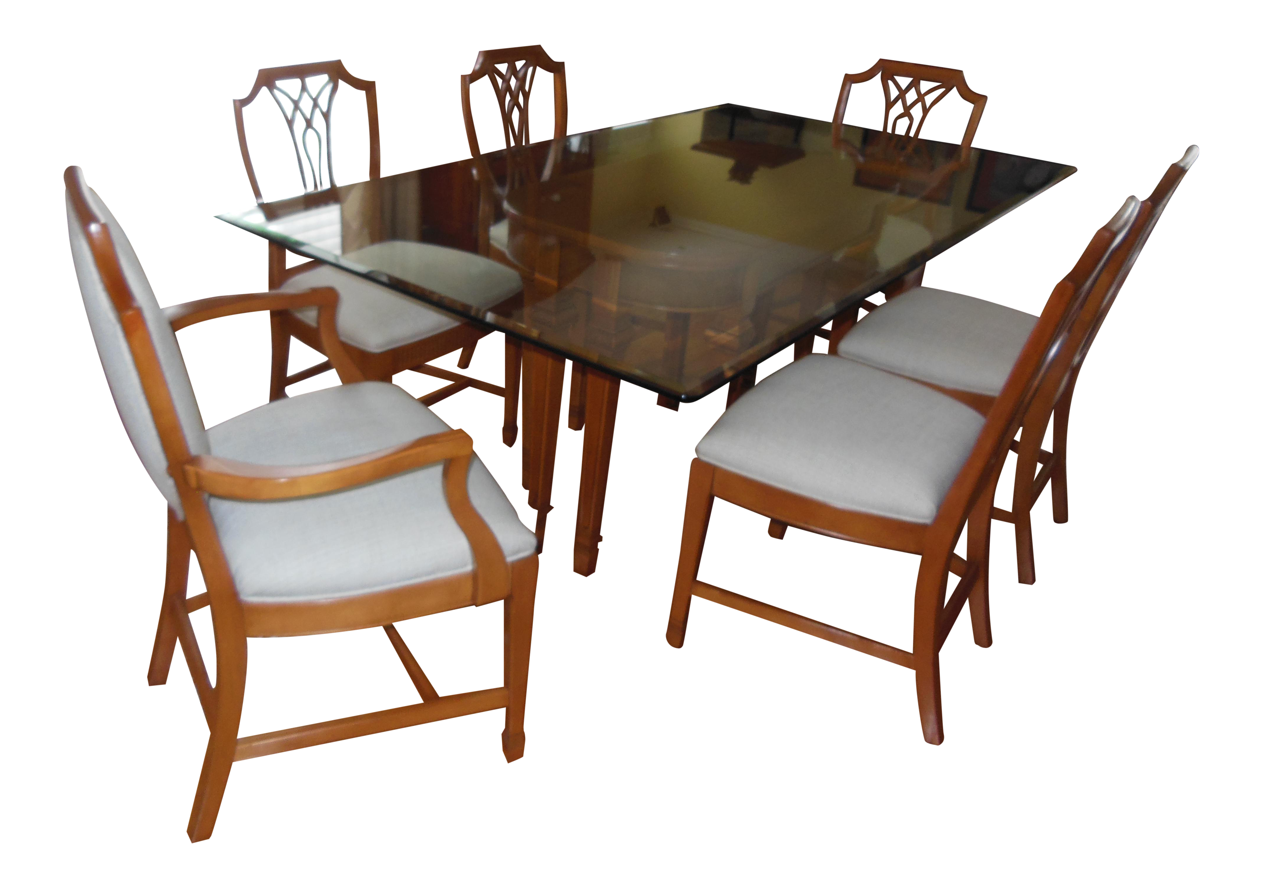 Fantastic 1930S Myrtlewood Dining Table And Chairs 1 Of 3 Listings Machost Co Dining Chair Design Ideas Machostcouk