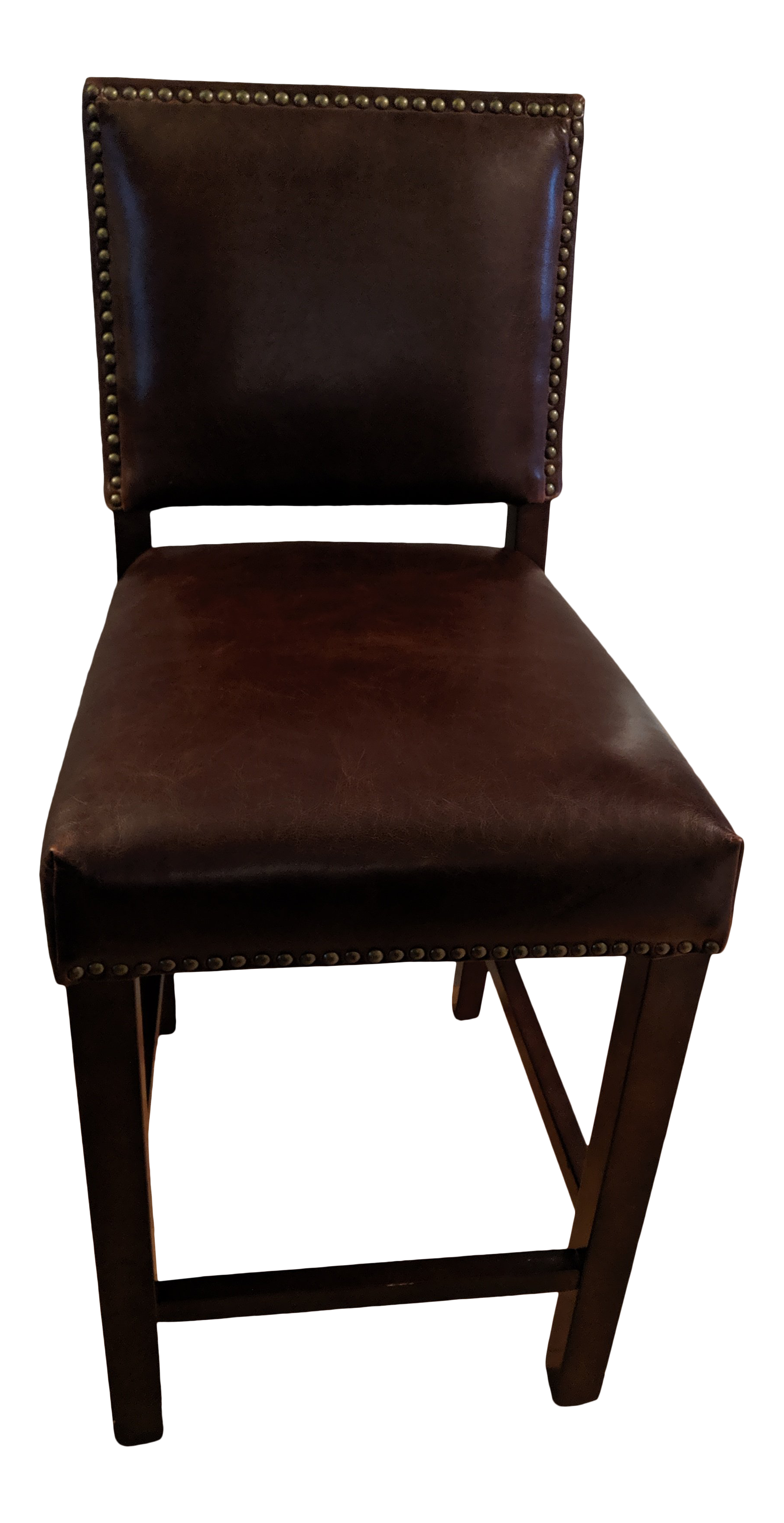 Awe Inspiring Modern Alder Tweed Weston Leather Counter Stool Chairish Uwap Interior Chair Design Uwaporg