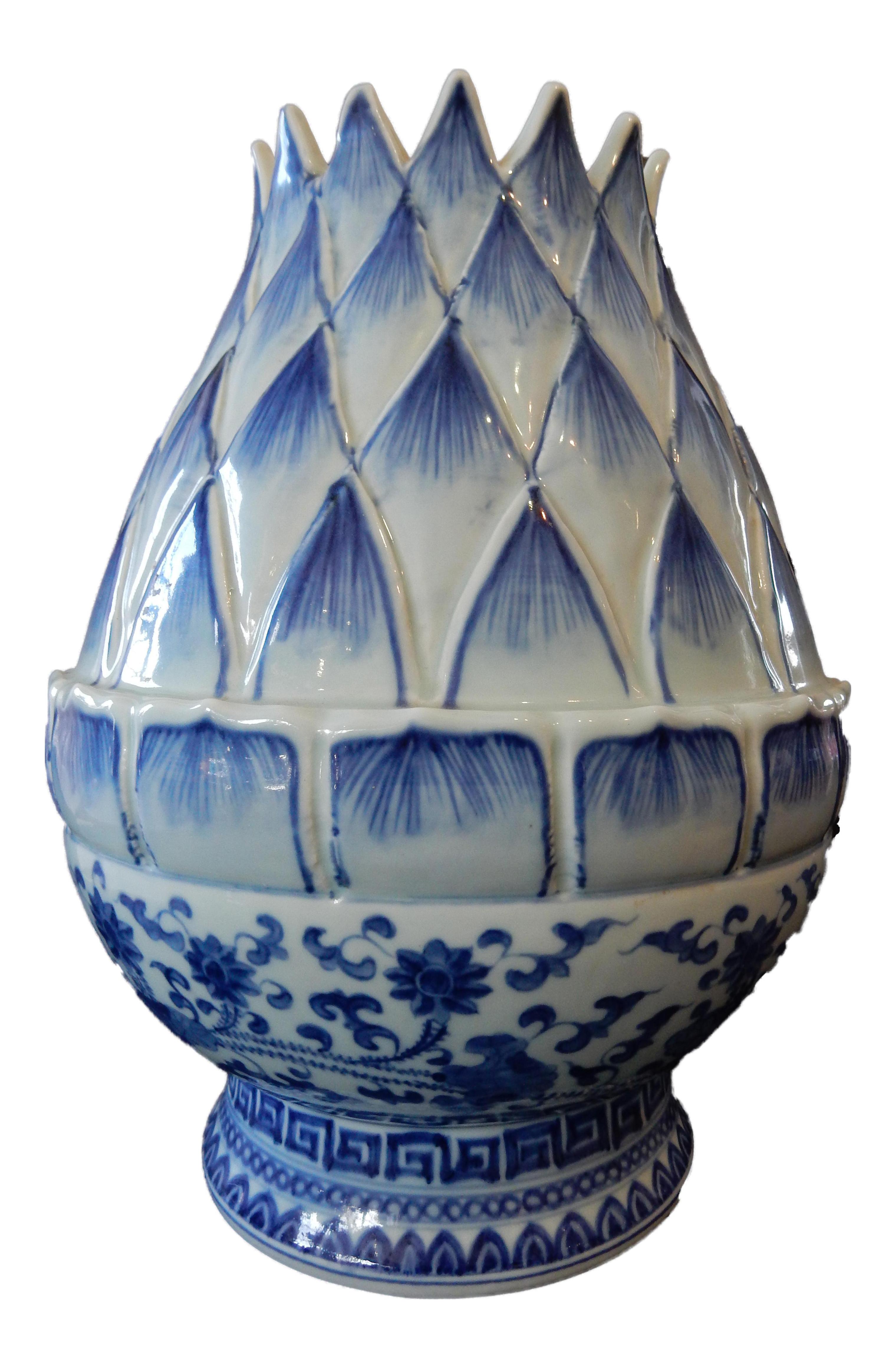B W Lotus Flower Vase Chairish