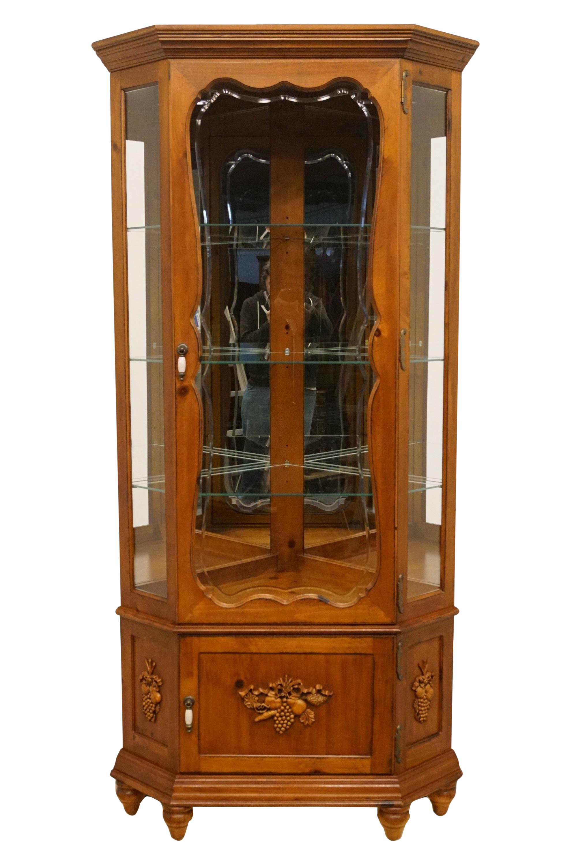 20th century french country pulaski furniture display curio cabinet chairish