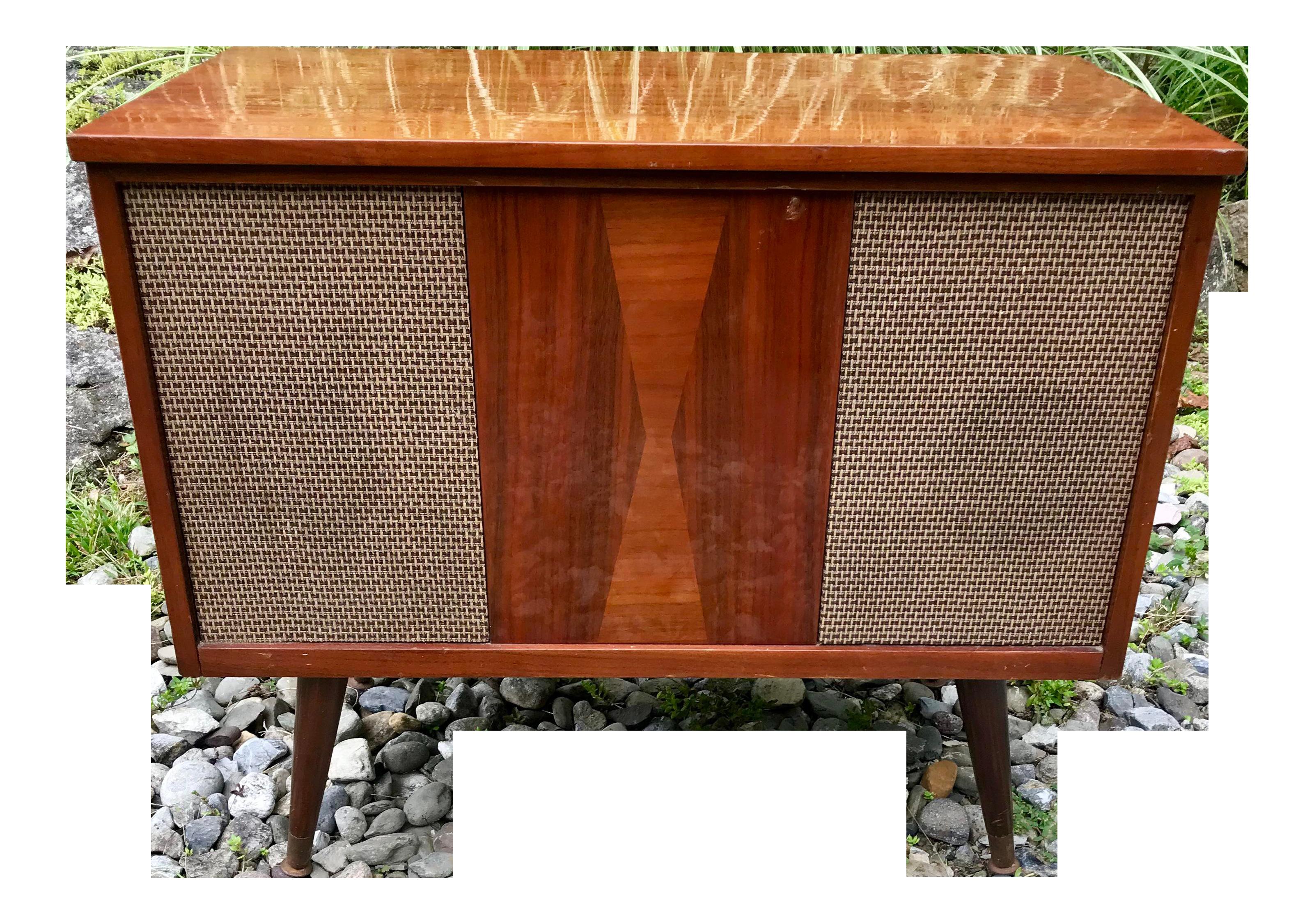 Strange Mid Century Stereo Cabinet Radio Console Interior Design Ideas Gentotryabchikinfo