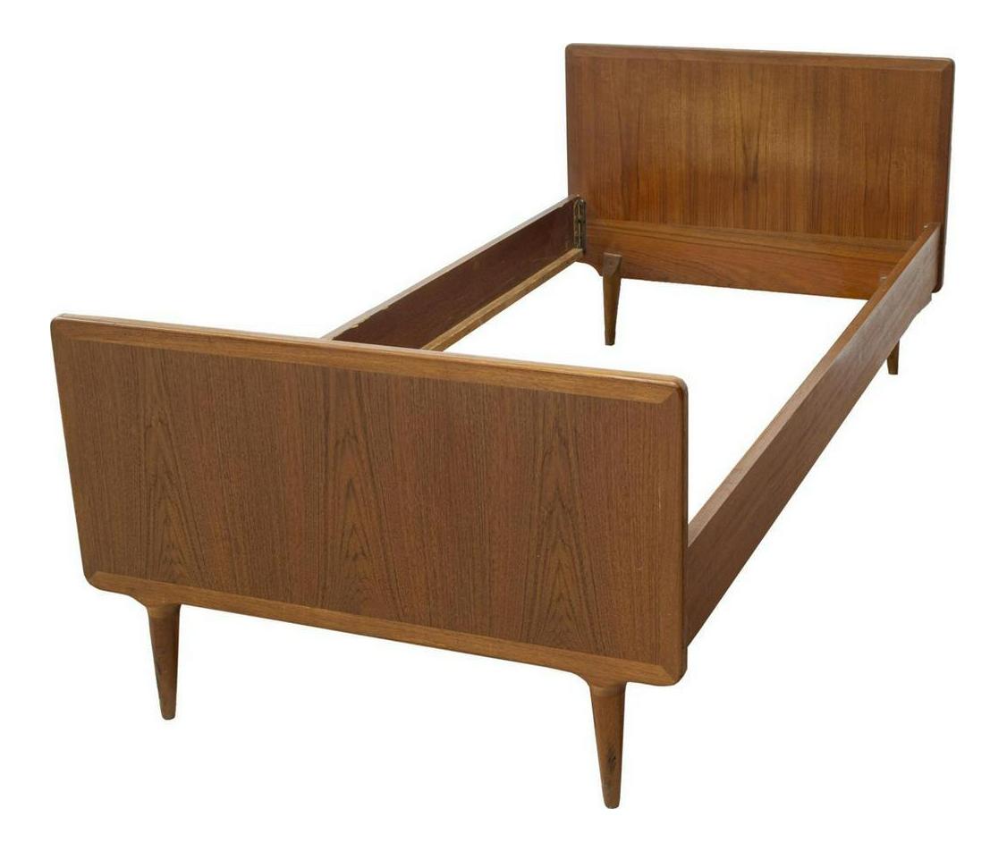 Mid Century Modern Danish Teak Twin Bedframe Chairish