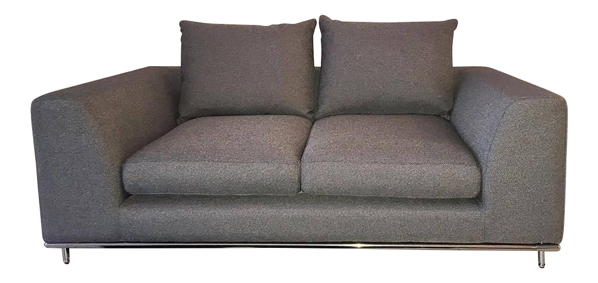 Terrific Carlos Perazzi Hanna Gray Loveseat Pabps2019 Chair Design Images Pabps2019Com
