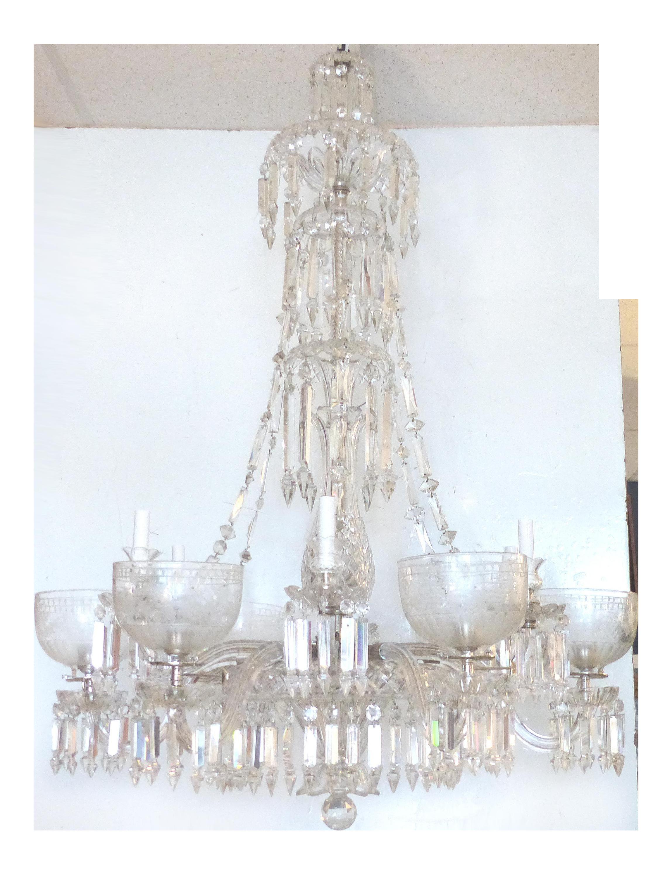 Fine english 19th century twelve arm cut crystal gas chandelier by fine english 19th century twelve arm cut crystal gas chandelier by f c osler decaso arubaitofo Gallery
