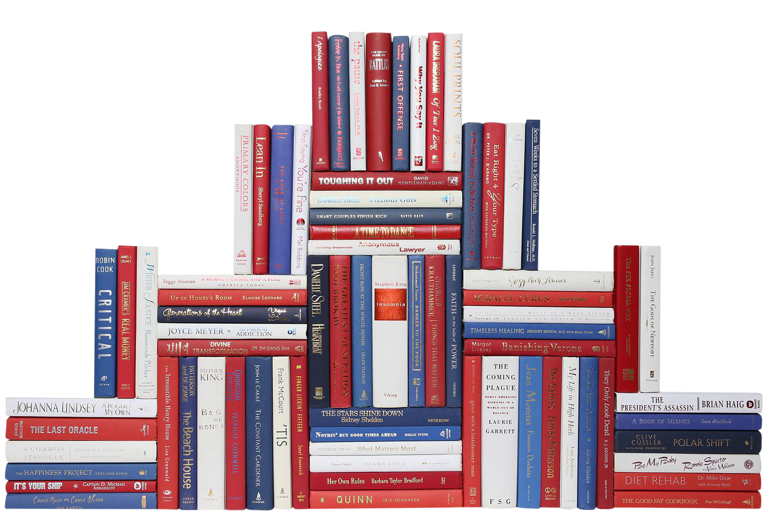 modern red white blue book wall set of 75 chairish. Black Bedroom Furniture Sets. Home Design Ideas