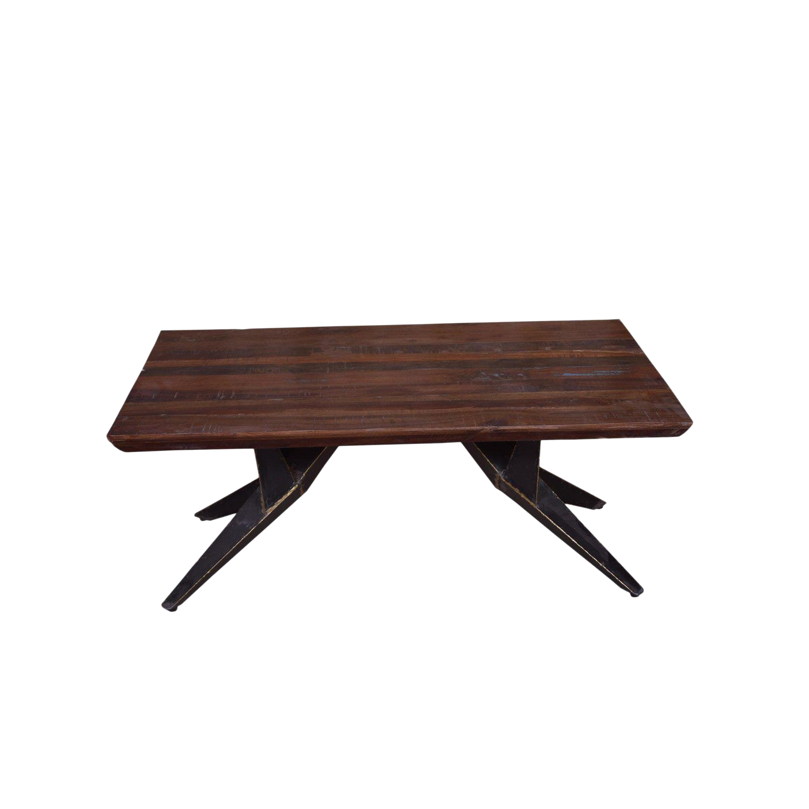 Faunia Coffee Table With Iron Legs Living Room Wooden Top Rustic Natural Finish Wood And Metal Home Furniture Natural Chairish