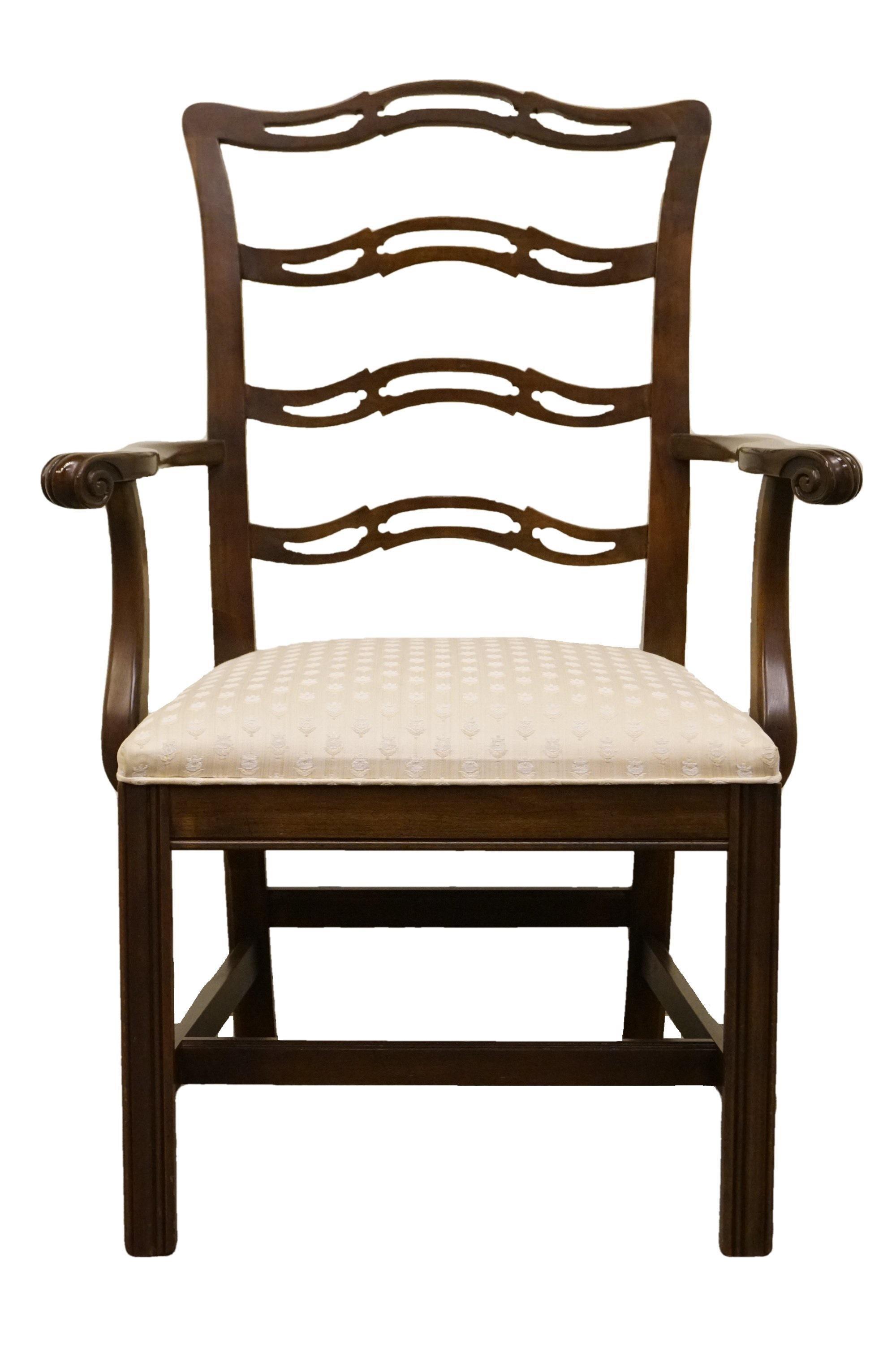 Late 20th Century Vintage Ethan Allen Georgian Court Ladderback Dining Chair Chairish