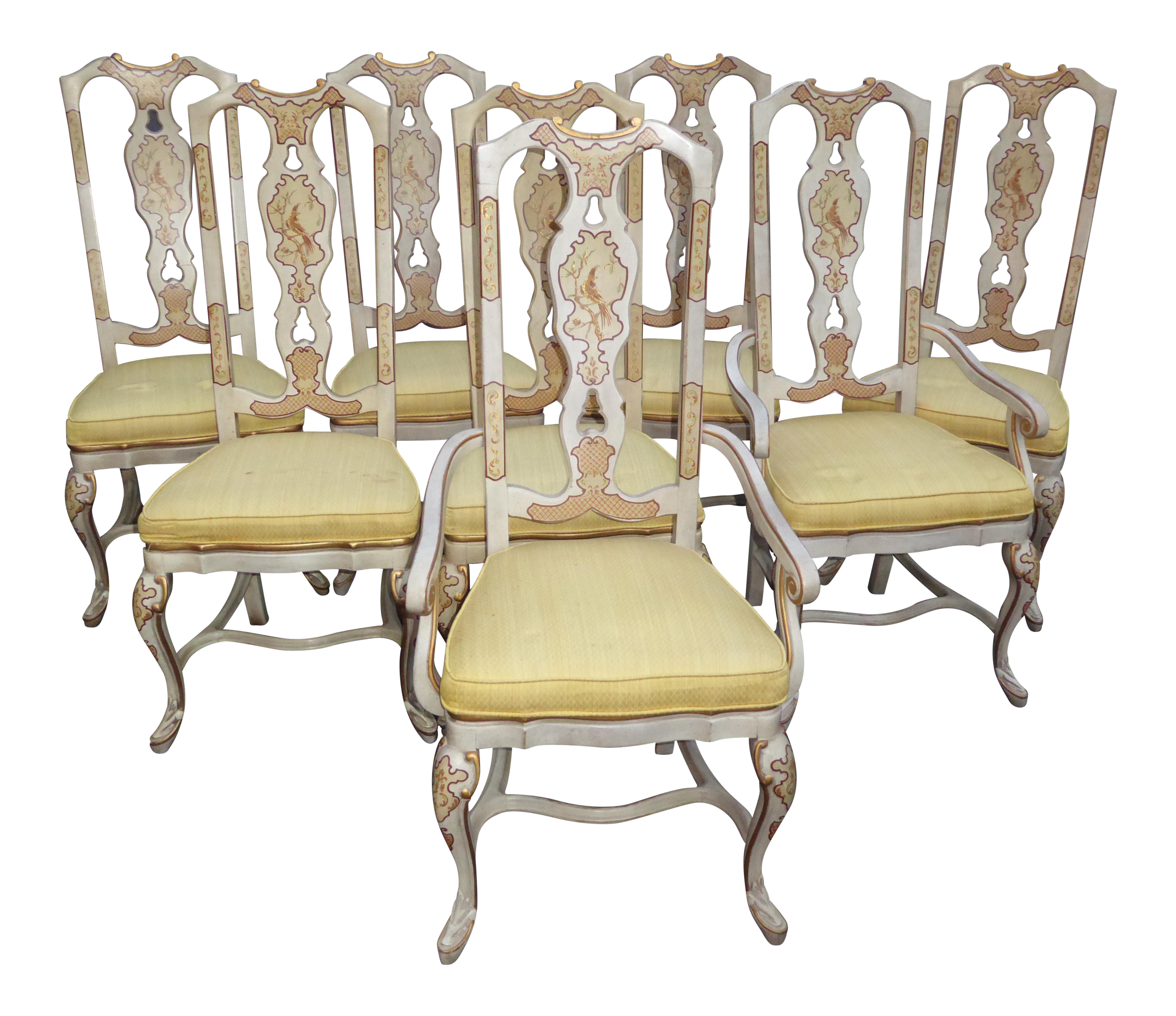 Drexel Heritage Chinoiserie Dining Chairs Set of 8