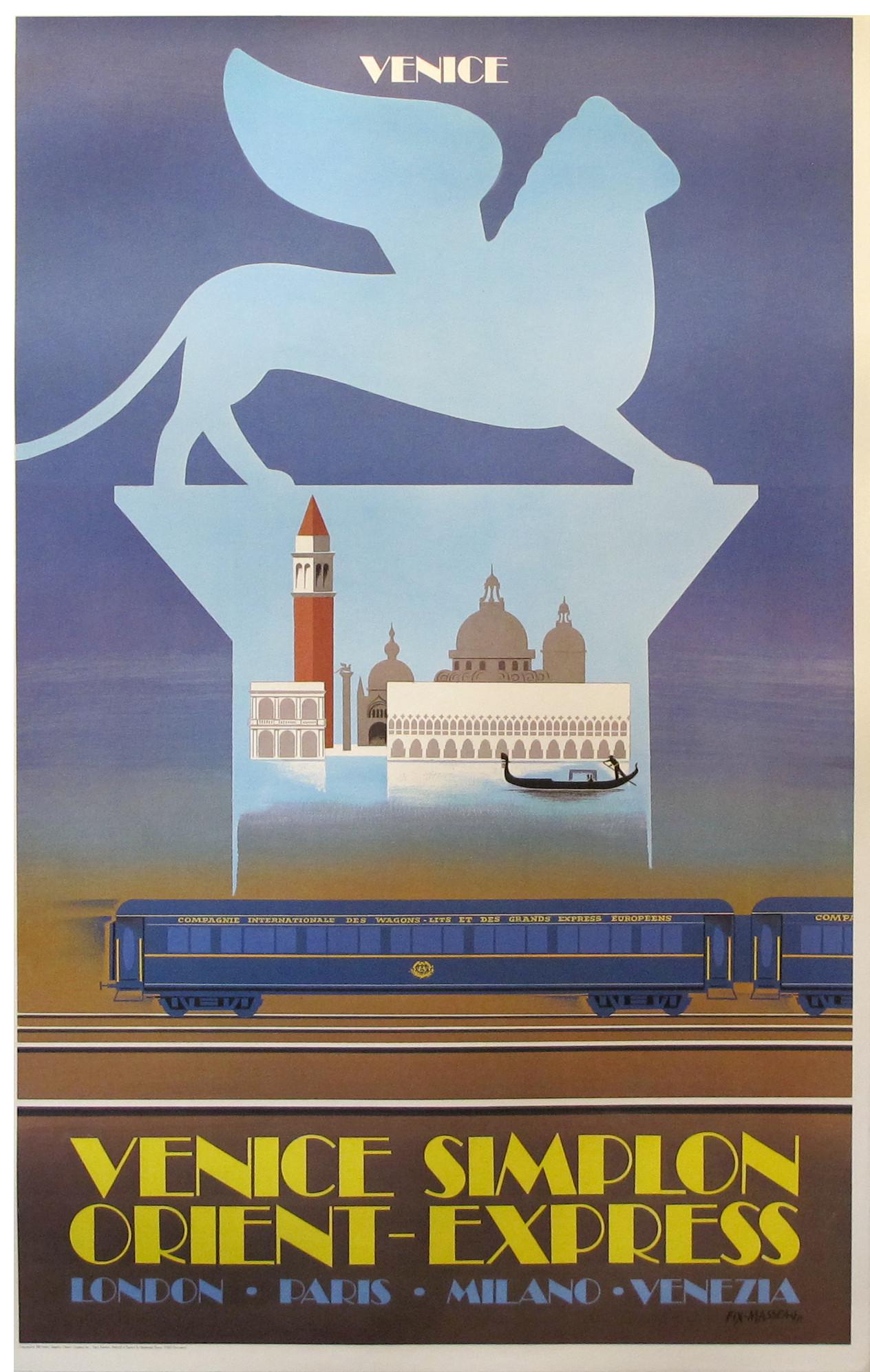 Venice Simplon//Orient Express//Travel Poster//Art Print Paris Milano London