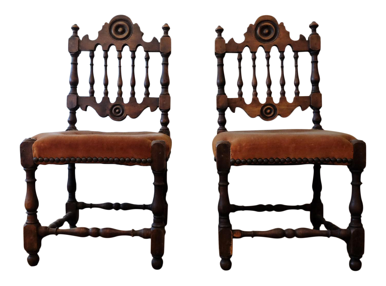 Antique Children's Chairs, Upholstered in Vintage Fabric - a Pair | Chairish - Antique Children's Chairs, Upholstered In Vintage Fabric - A Pair
