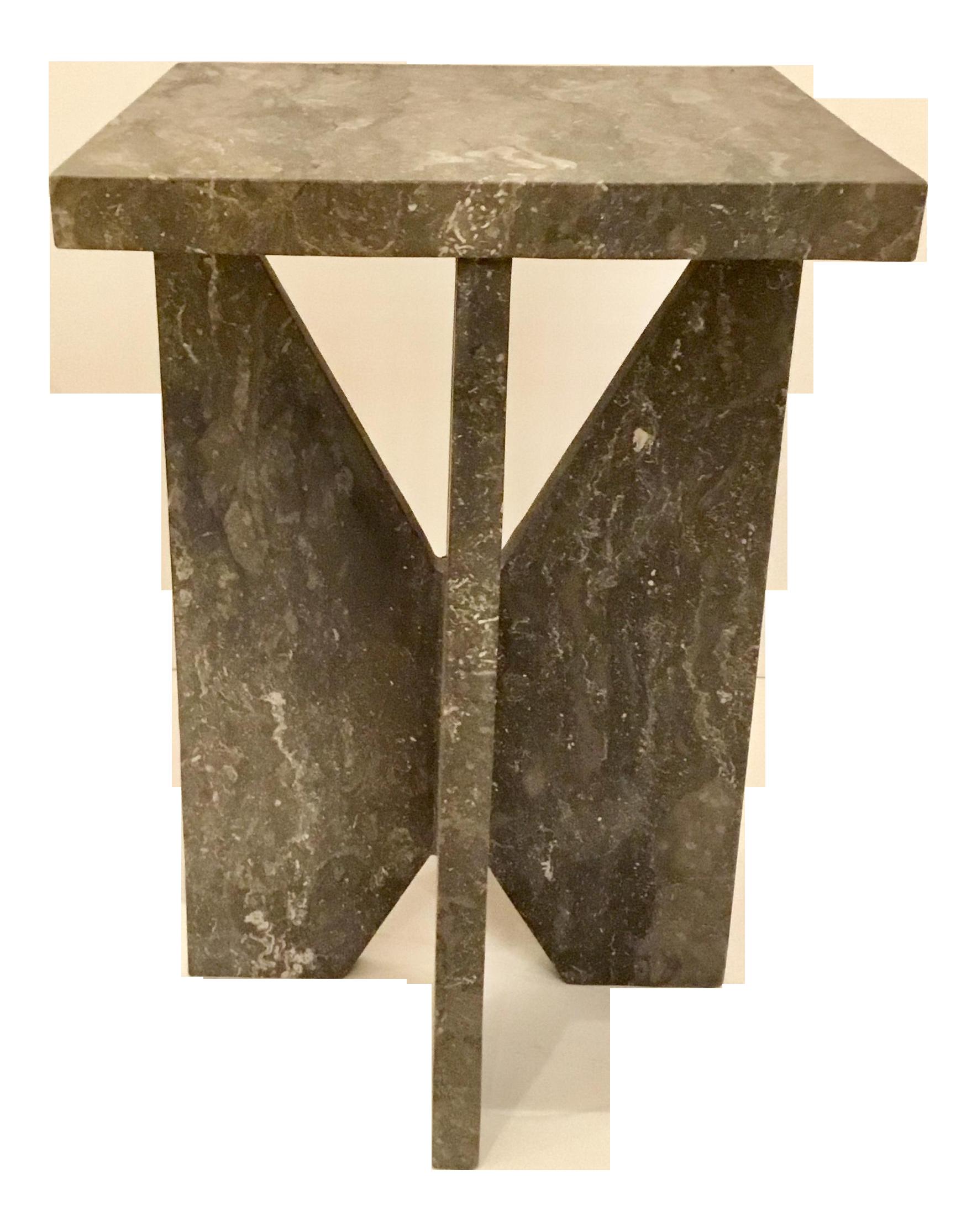 Modern Black Marble Side Table