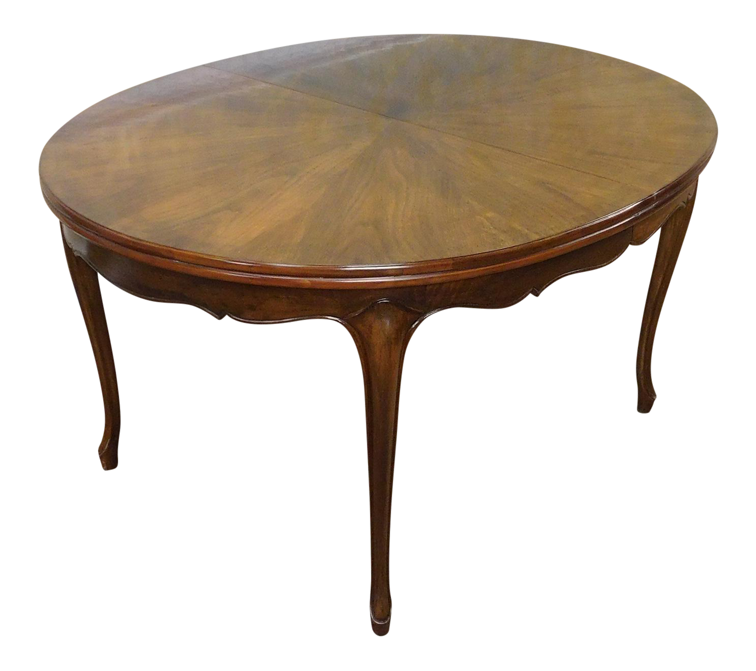 Fruitwood Cherry Oval French Provincial Style Baker Furniture Dining Table  | Chairish - Fruitwood Cherry Oval French Provincial Style Baker Furniture Dining