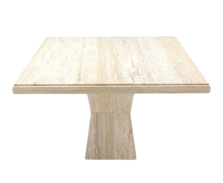 HighEnd Inch Square Travertine Game Table On Double Tapered Base - 44 inch square coffee table