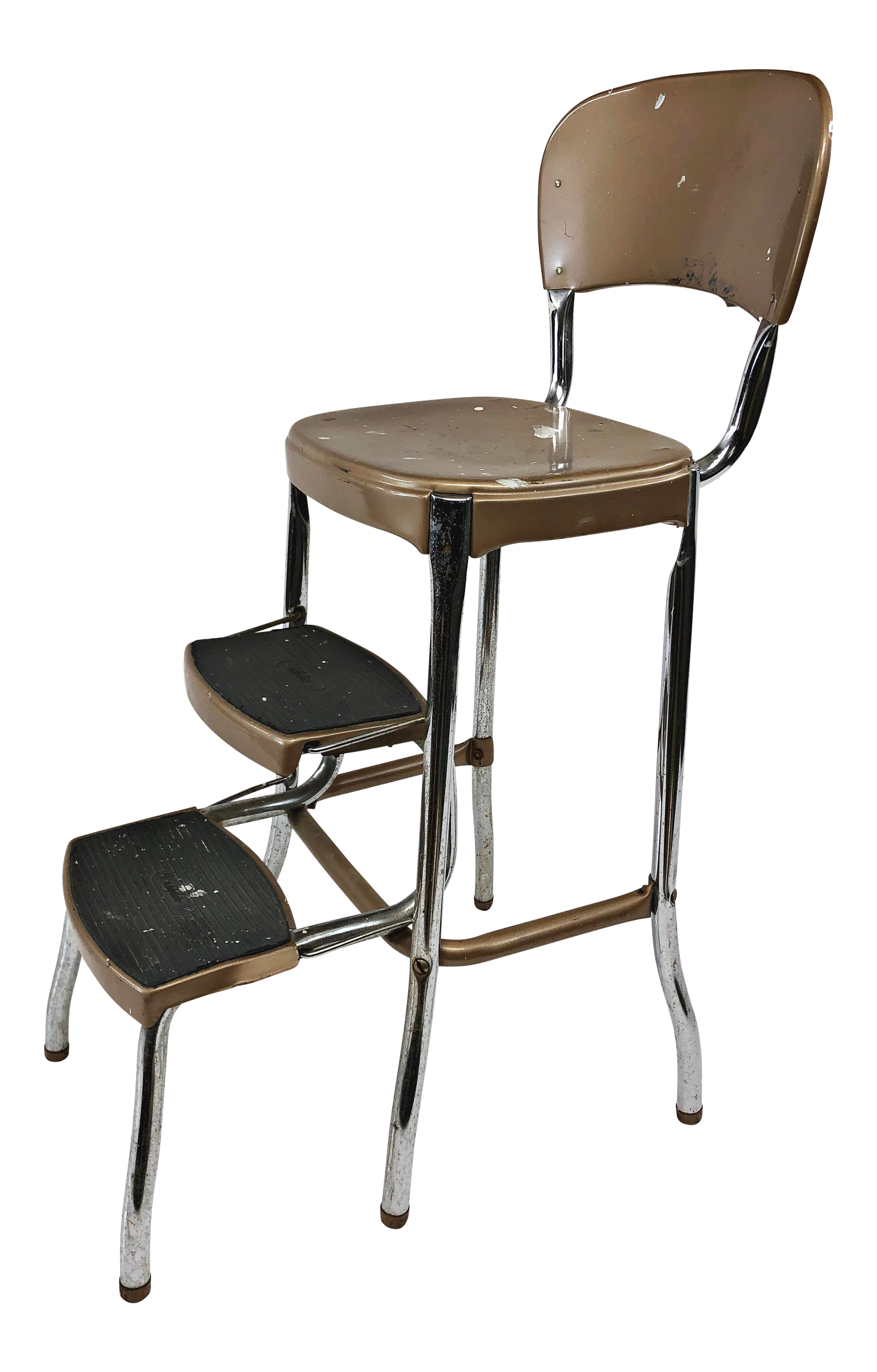 Stupendous Vintage Mid Century Brown Metal Step Stool By Cosco Pabps2019 Chair Design Images Pabps2019Com