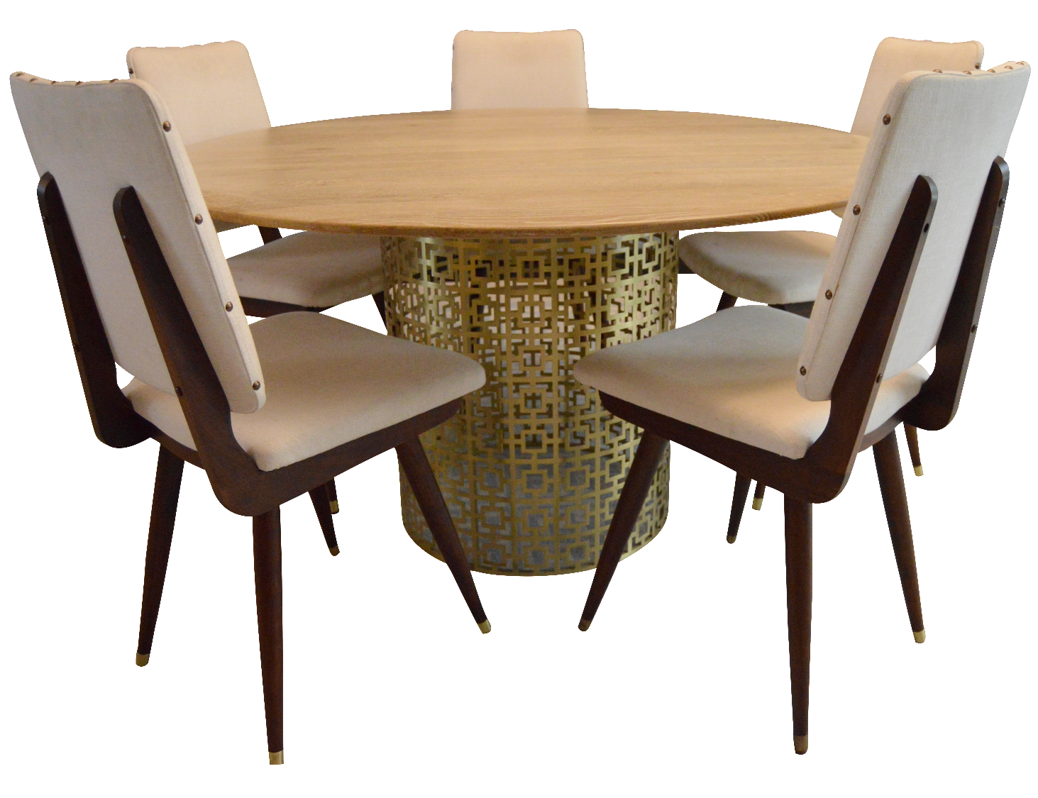 jonathan adler dining table 5 chairs chairish