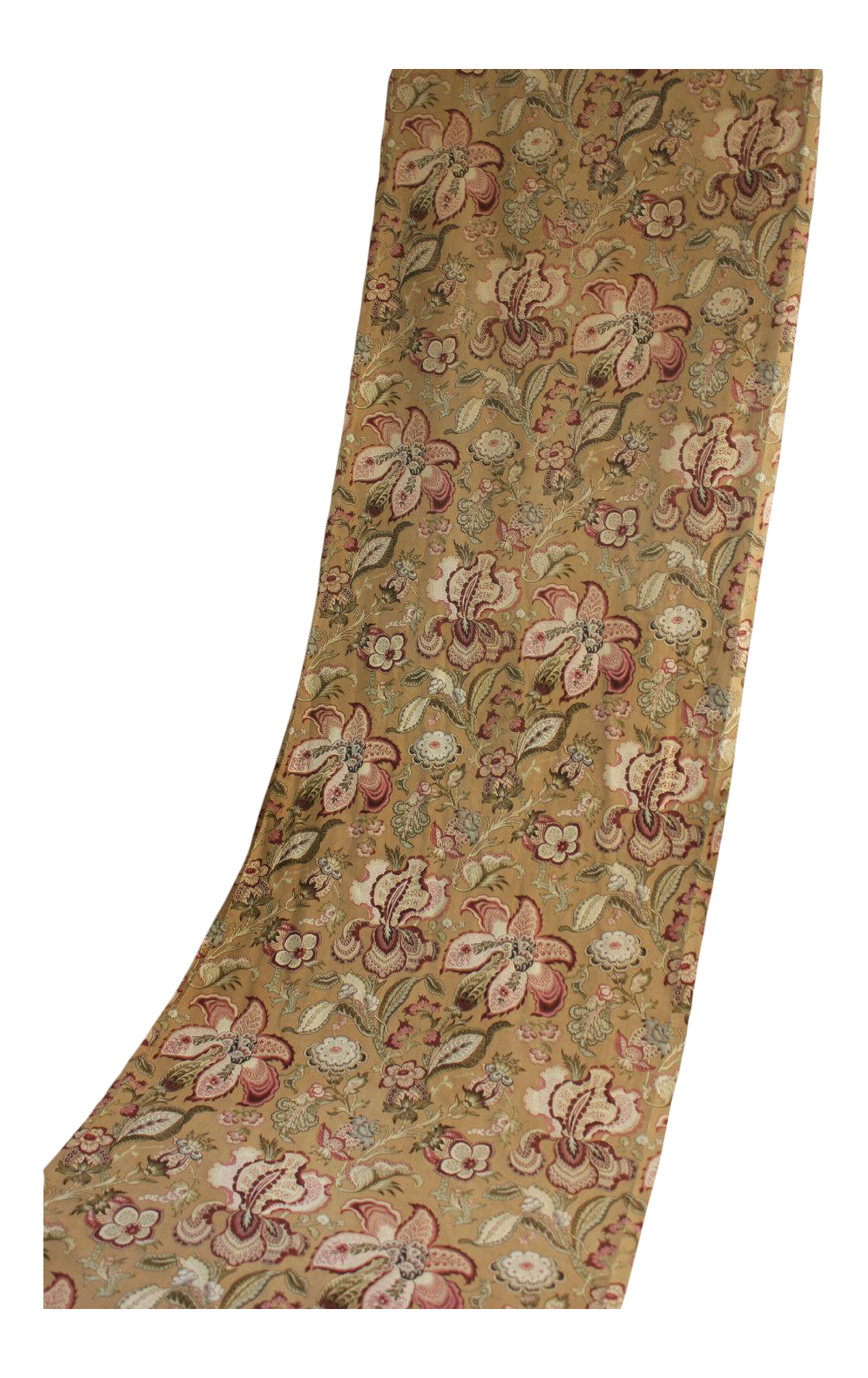 c1870 pink printed French fabric STUNNING pattern