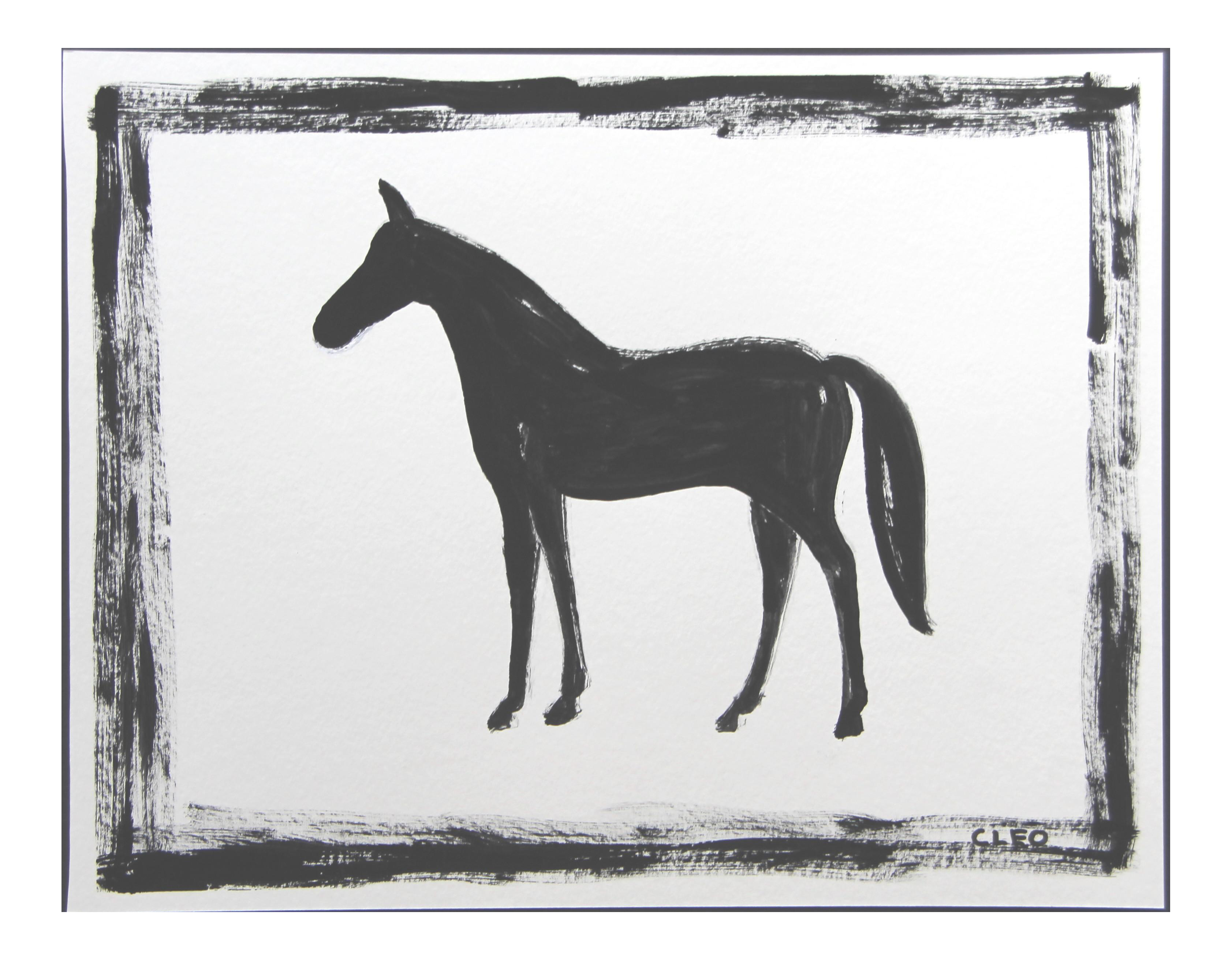 Black Horse Abstract Painting By Cleo Plowden Chairish